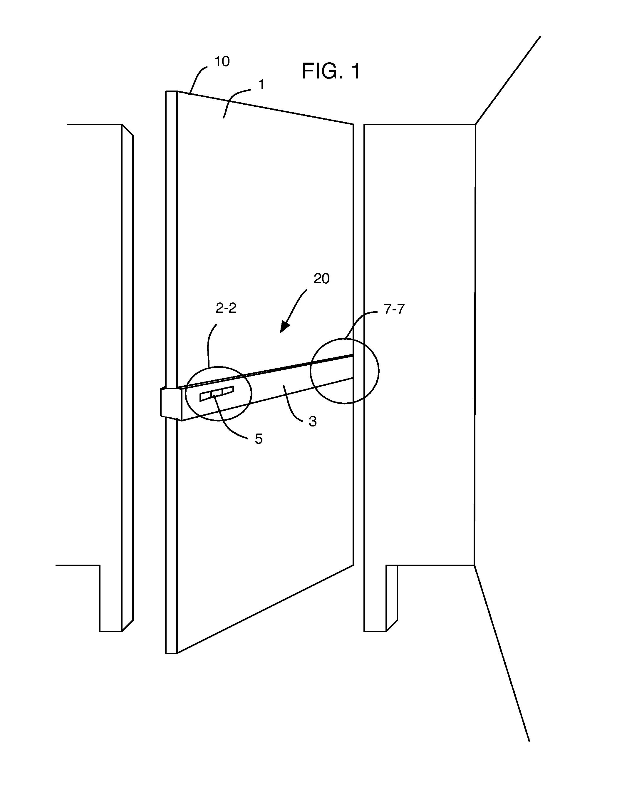 Bathroom stall door latch - Patent Drawing