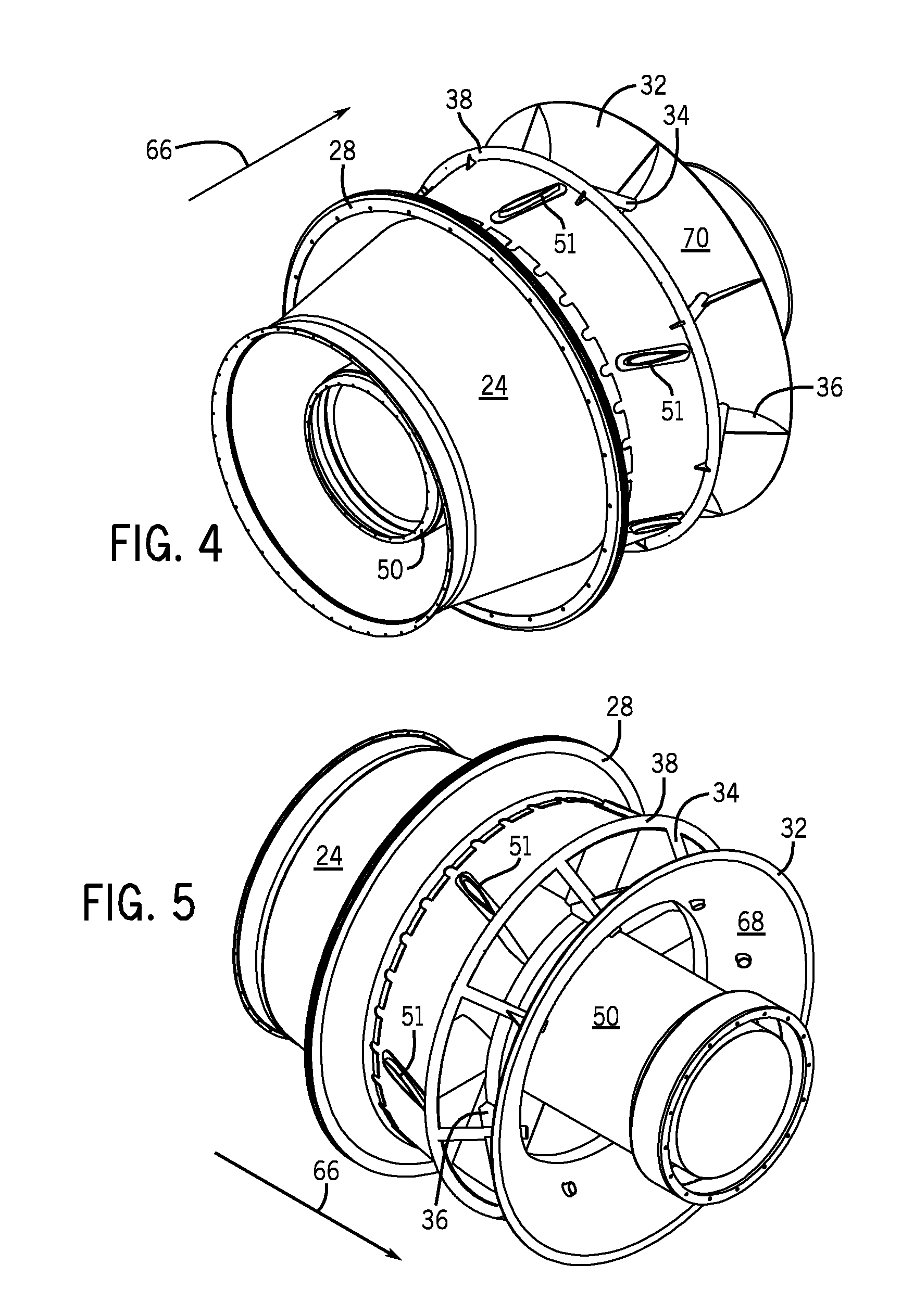 Patent US Gas turbine engine exhaust diffuser and