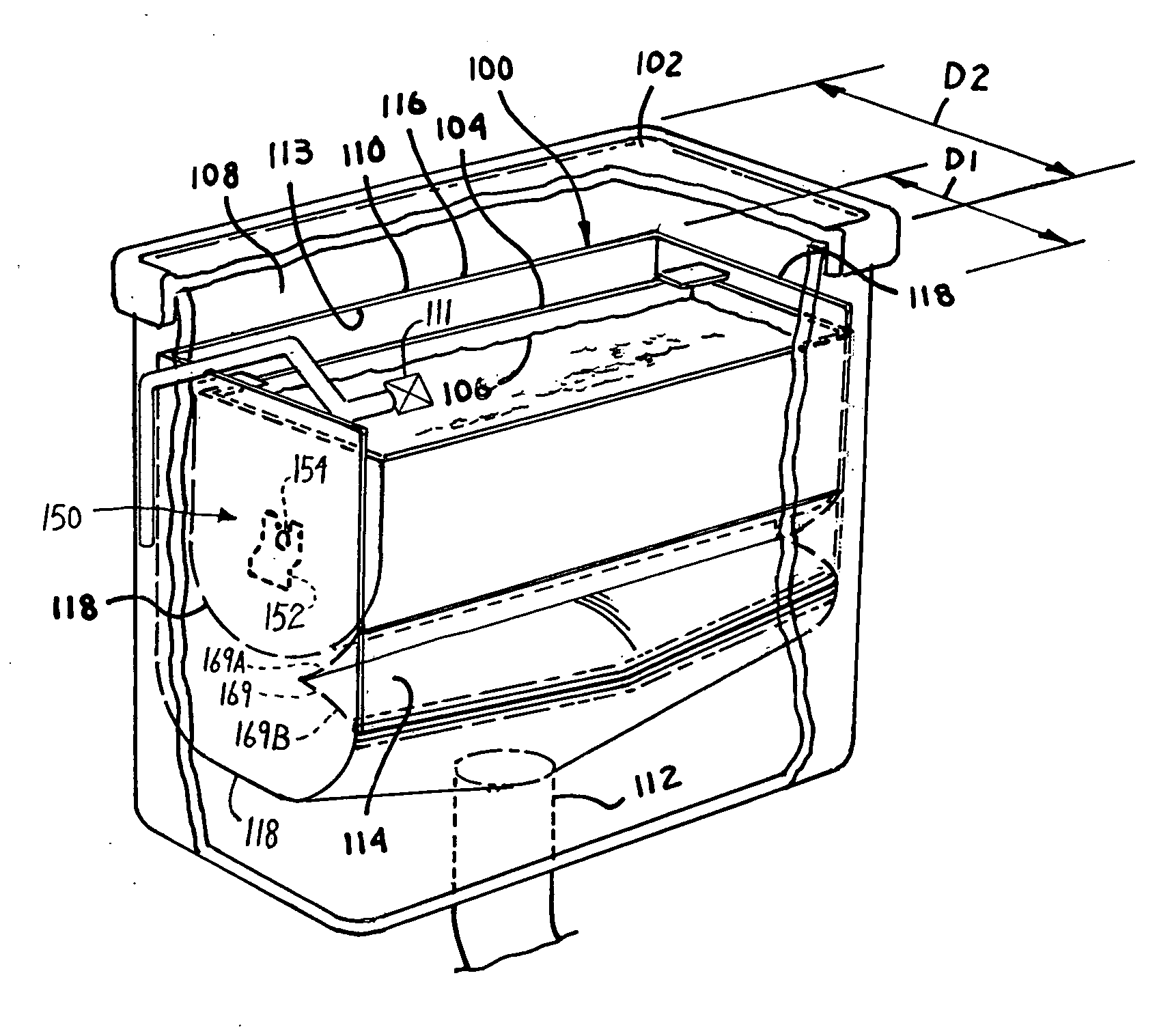 patent us20110099702 dump bucket tank insert for new and used patent drawing