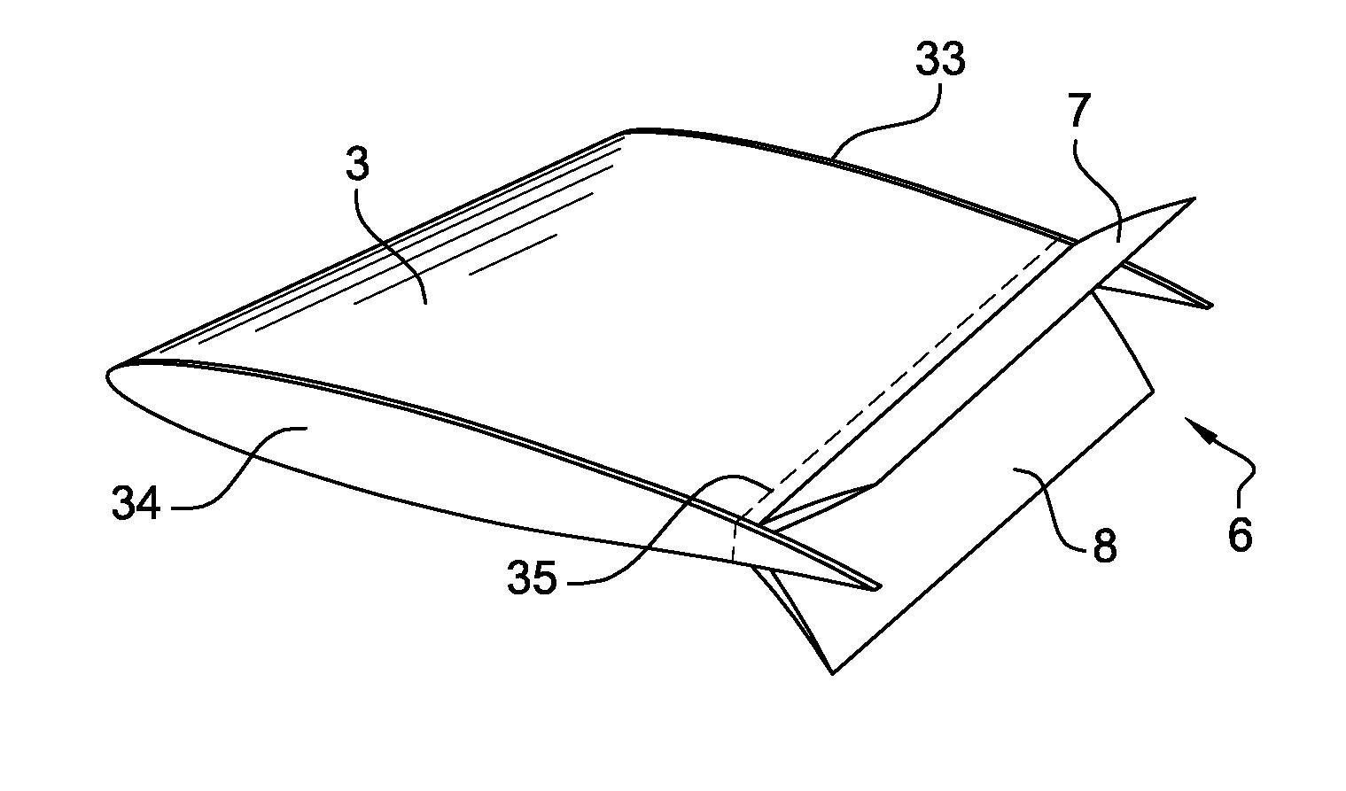 Control Volume Aerodynamic : Patent us  aerodynamic flight control surface