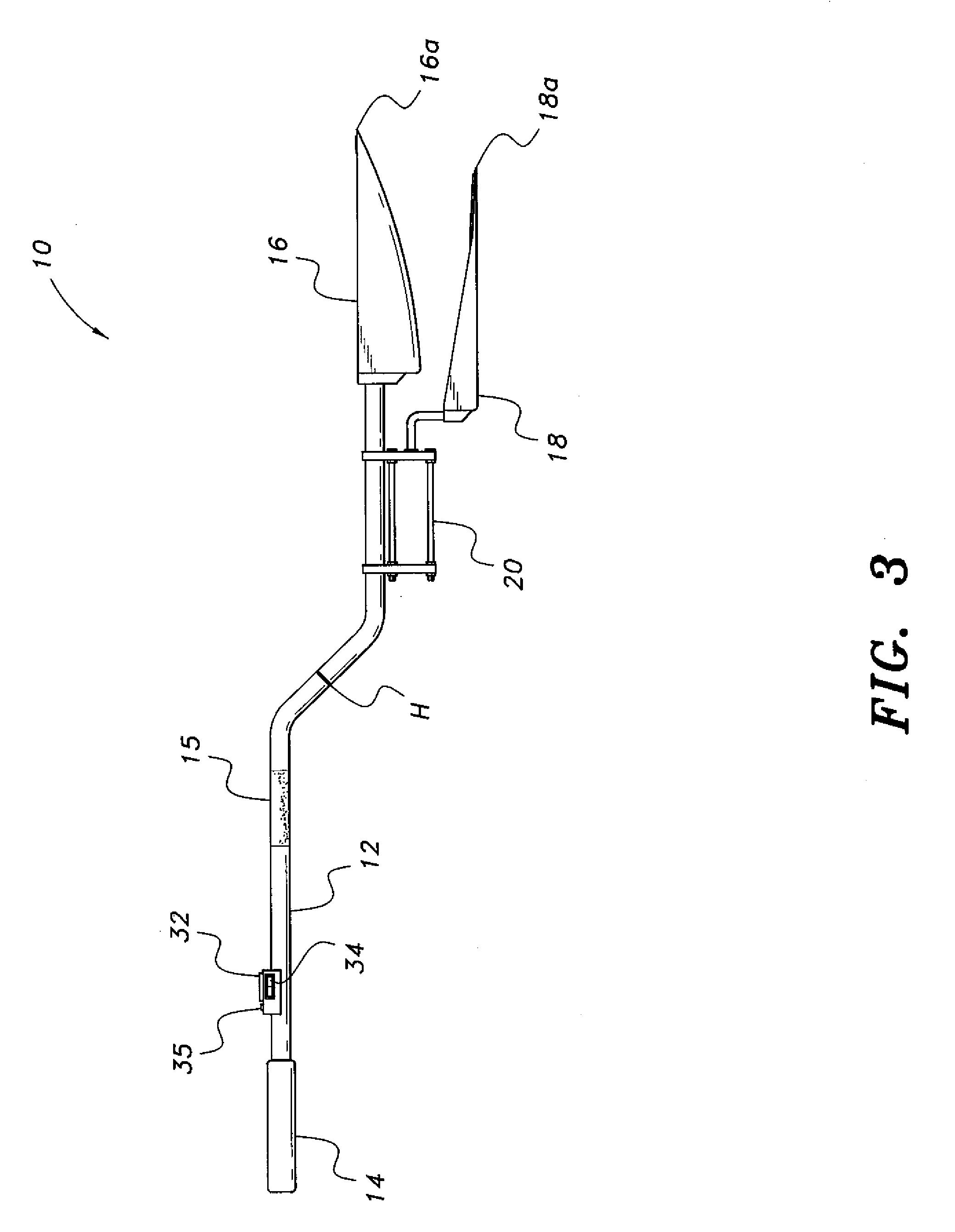 patent us20110139763 - heated snow shovel