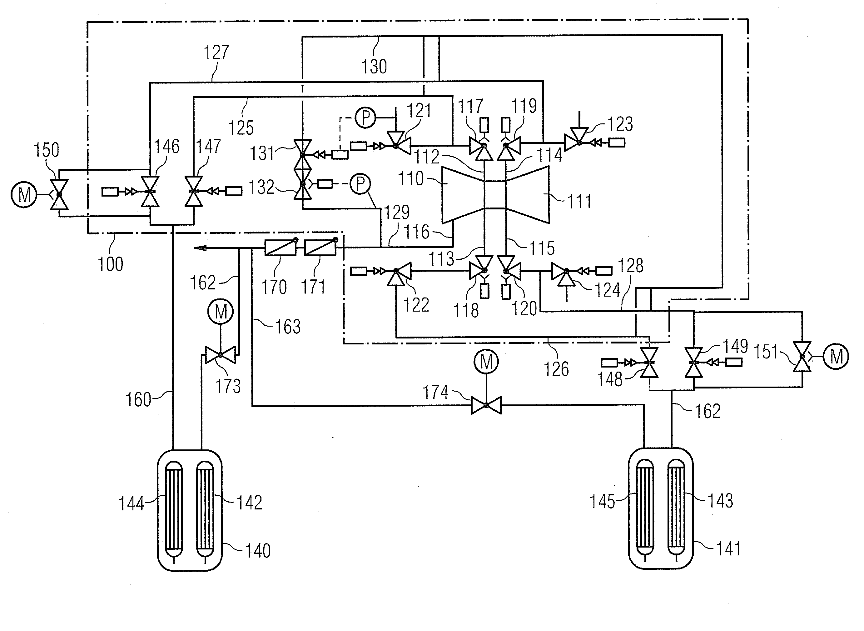 Patent US Steam turbine system for a power plant