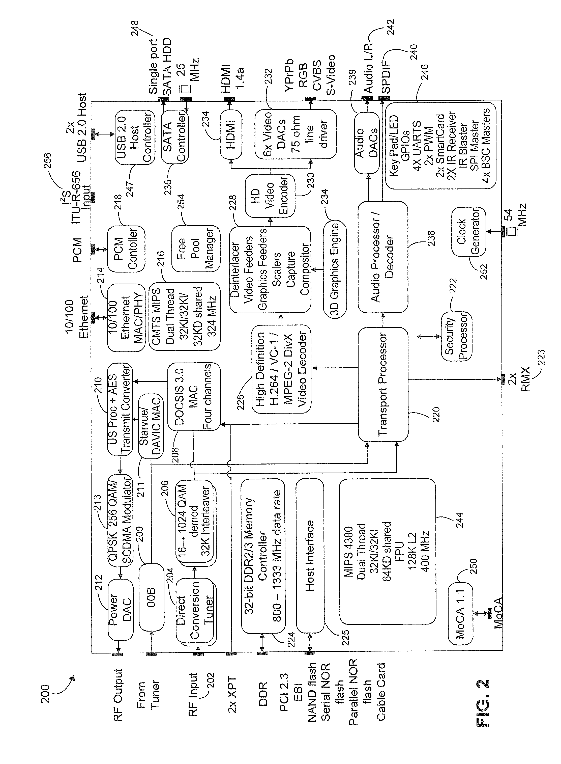 patent us20110197243 - cable set-top box with integrated cable tuner and moca support