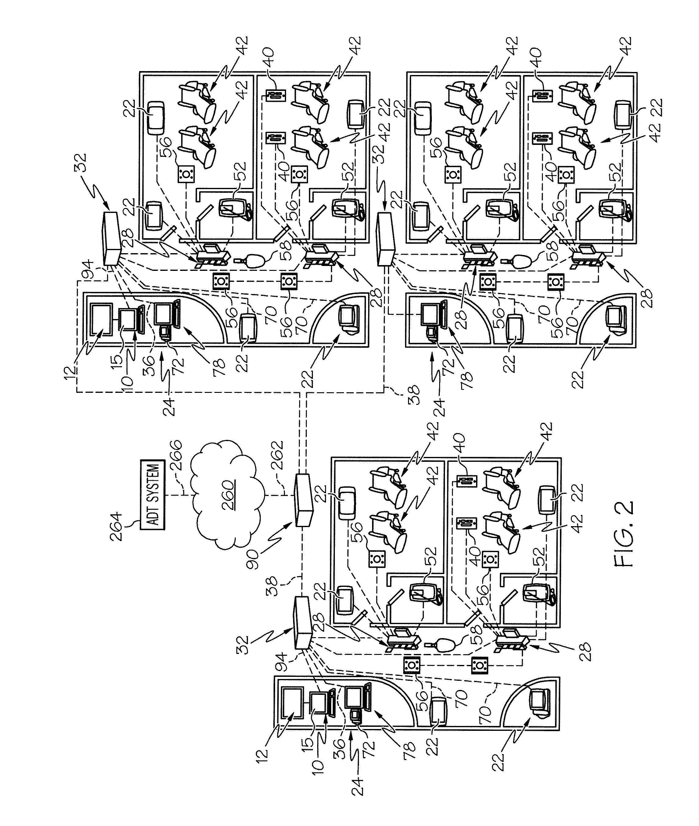 patent us20110205062 - nurse call system with additional status, Wiring diagram