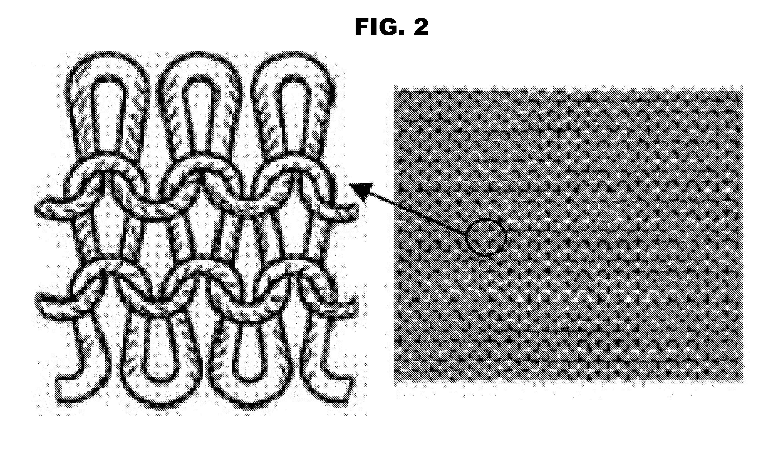 Drawing Knitting Pattern : Patent us  weft knitting elastic fabric