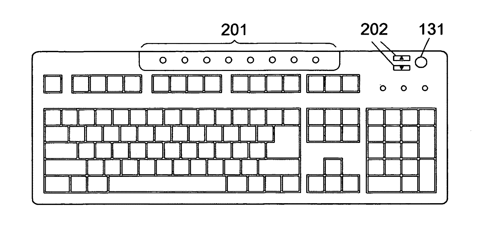 Line Drawing Keyboard : Keyboard line drawing