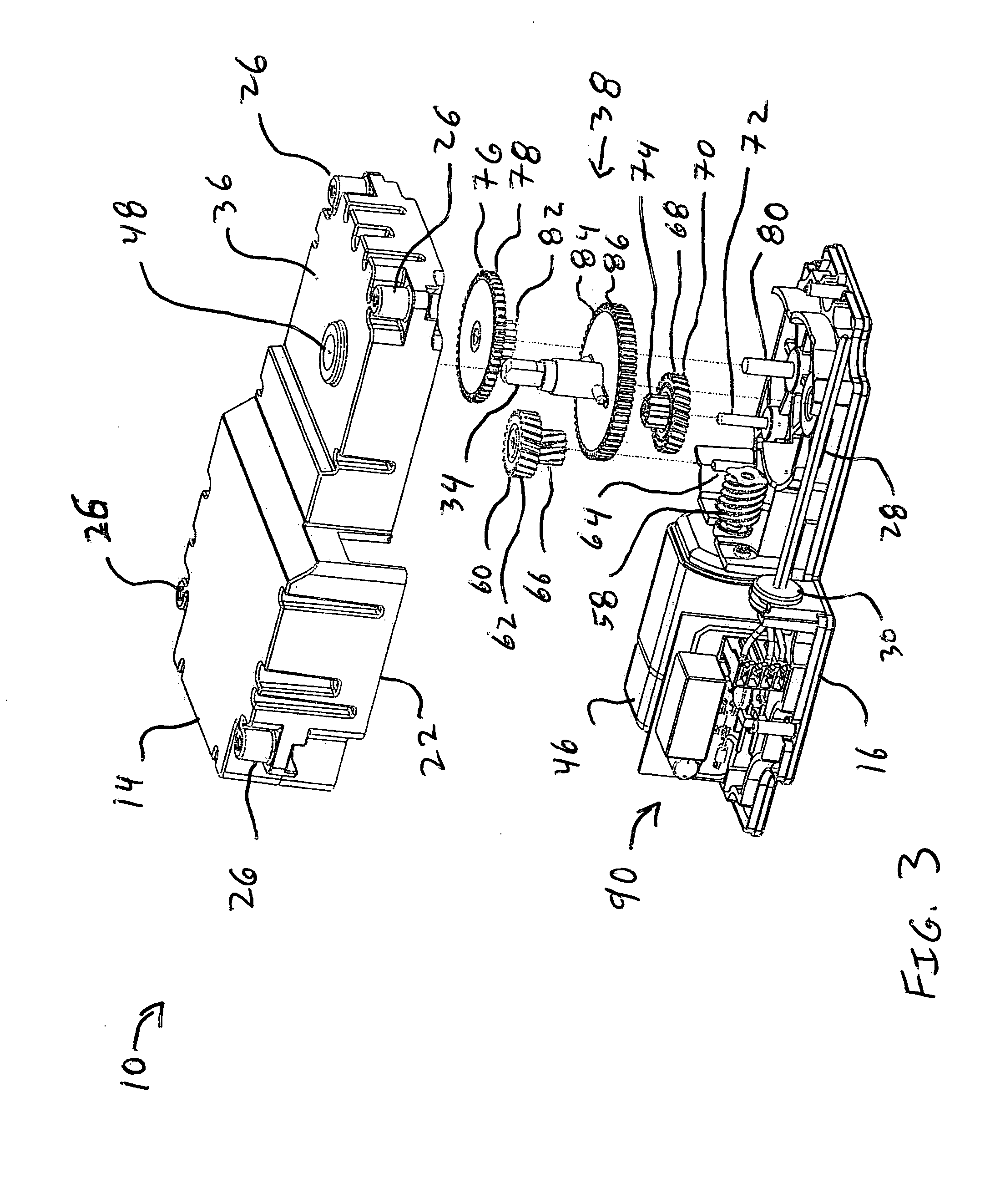 patent us20110239798 - gear box for ice dispenser
