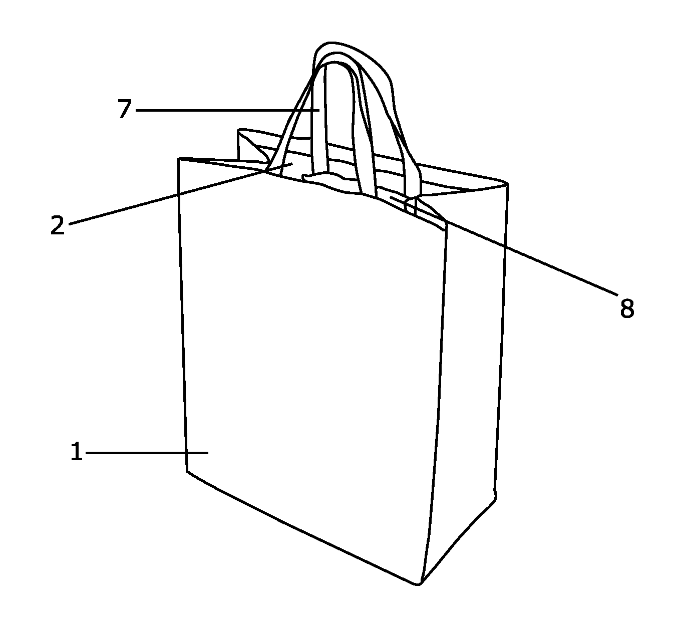 Shopping Bag Drawing This fabric gift bag with