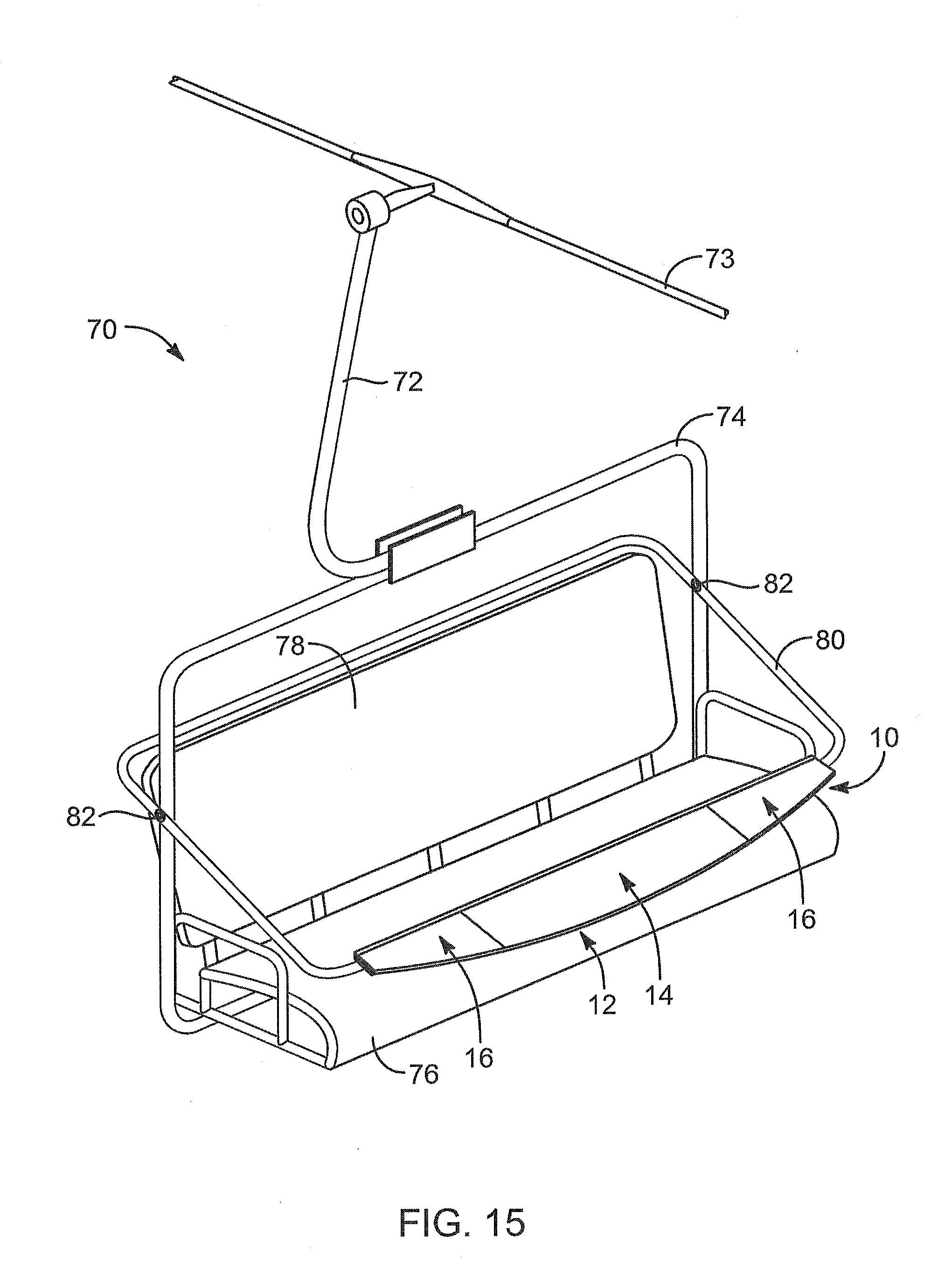 Patent US Ski chair lift display apparatus and method