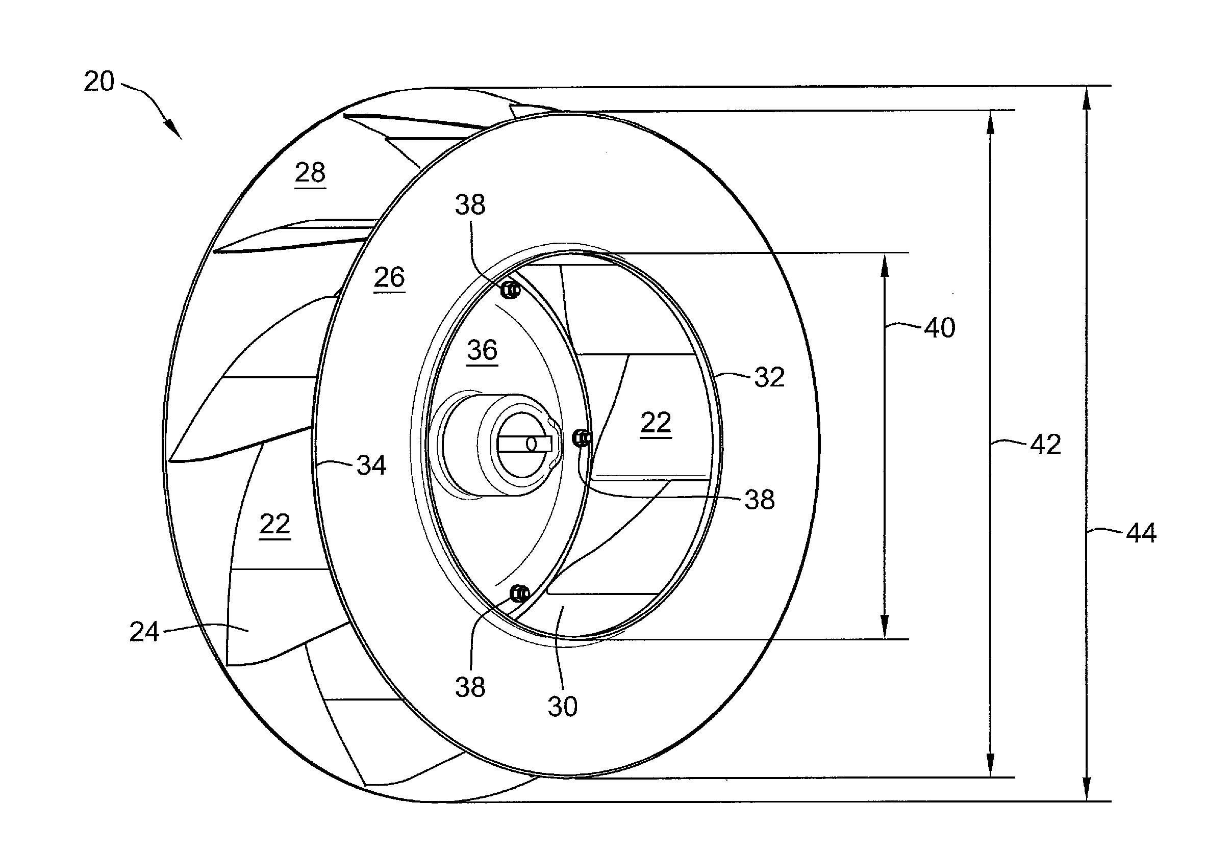 Fan Blade Drawing : Patent us  industrial fan impeller having a