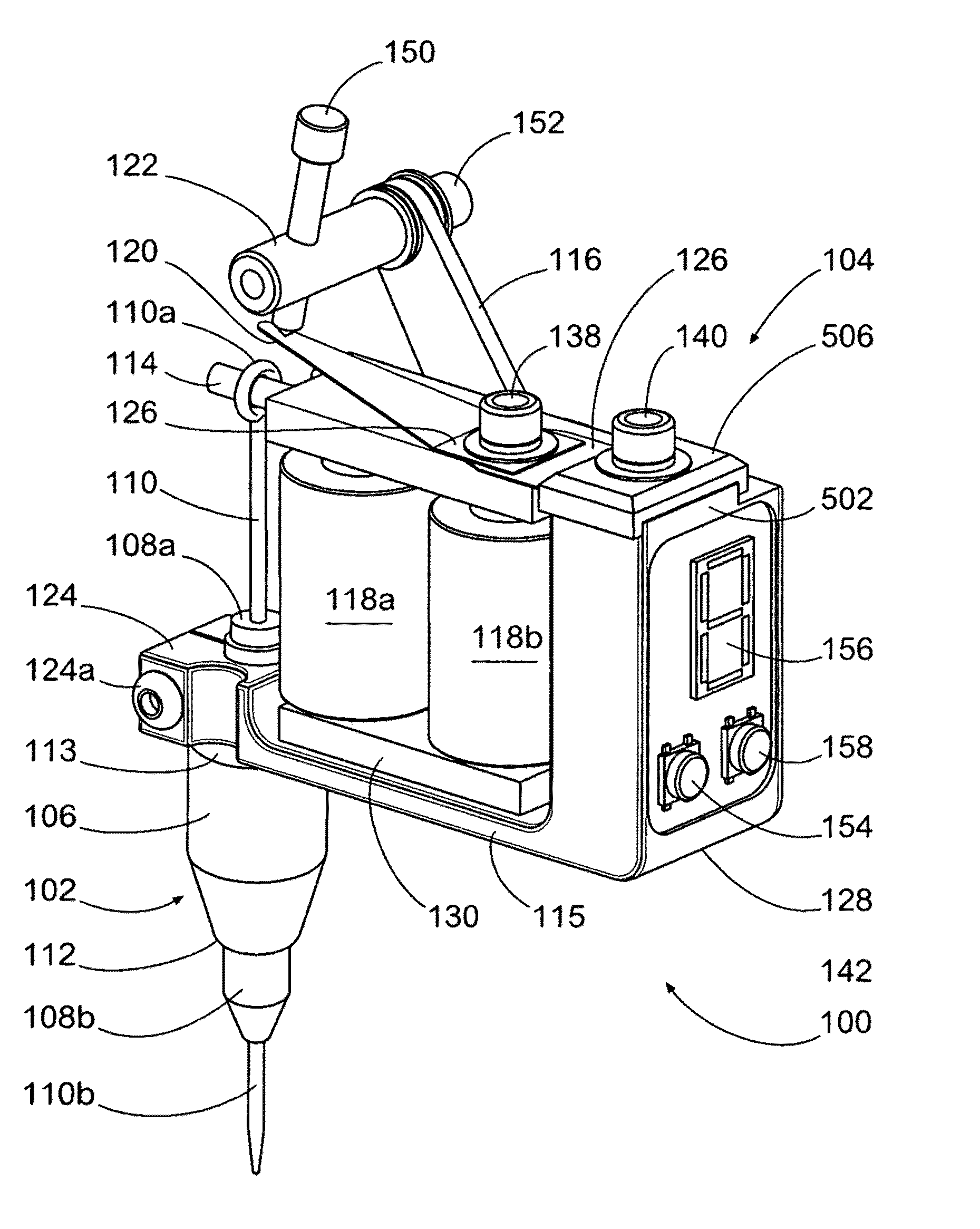 patent us20110288575 - wireless tattoo applicator system