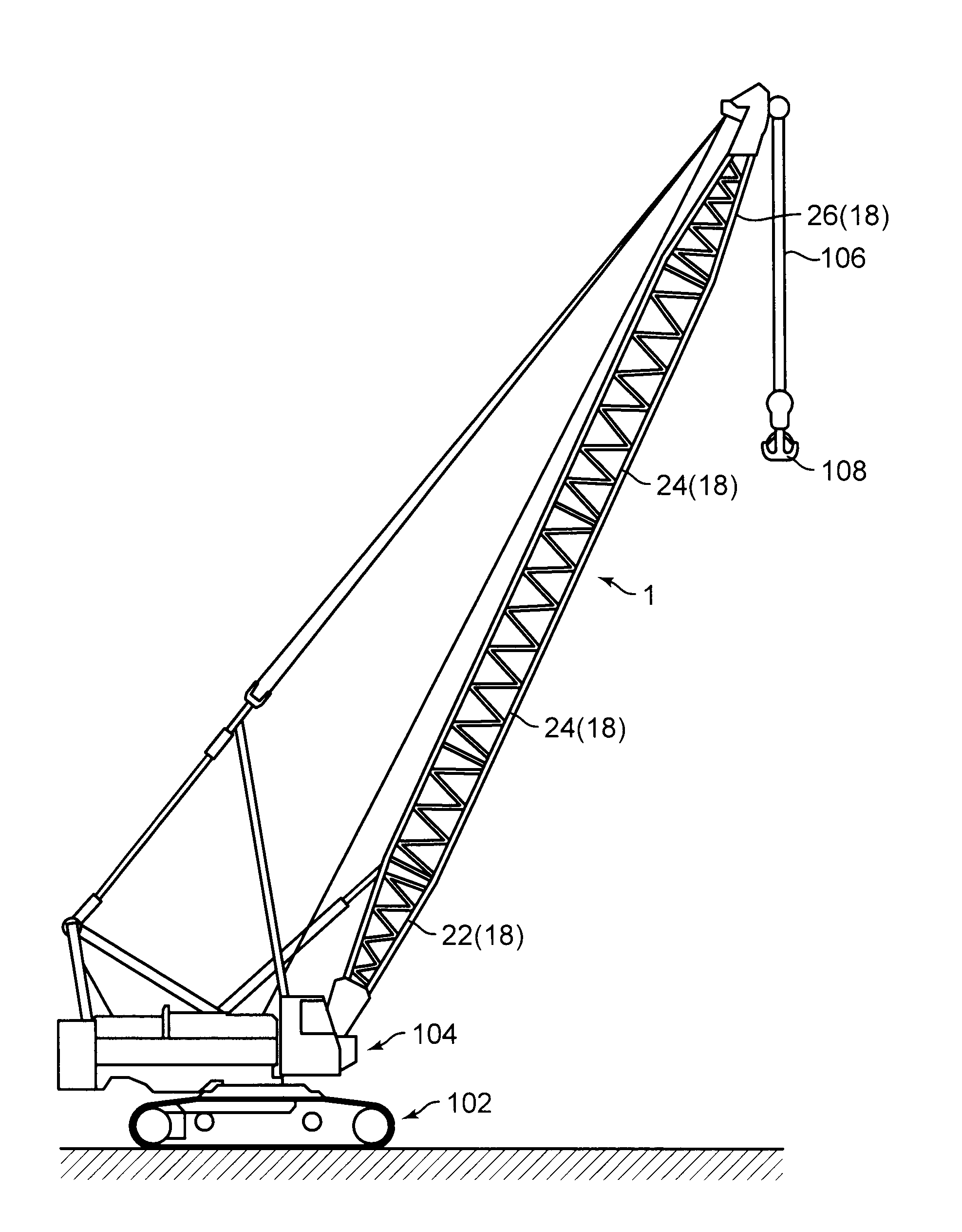 patent us20110290751 lattice boom google patents