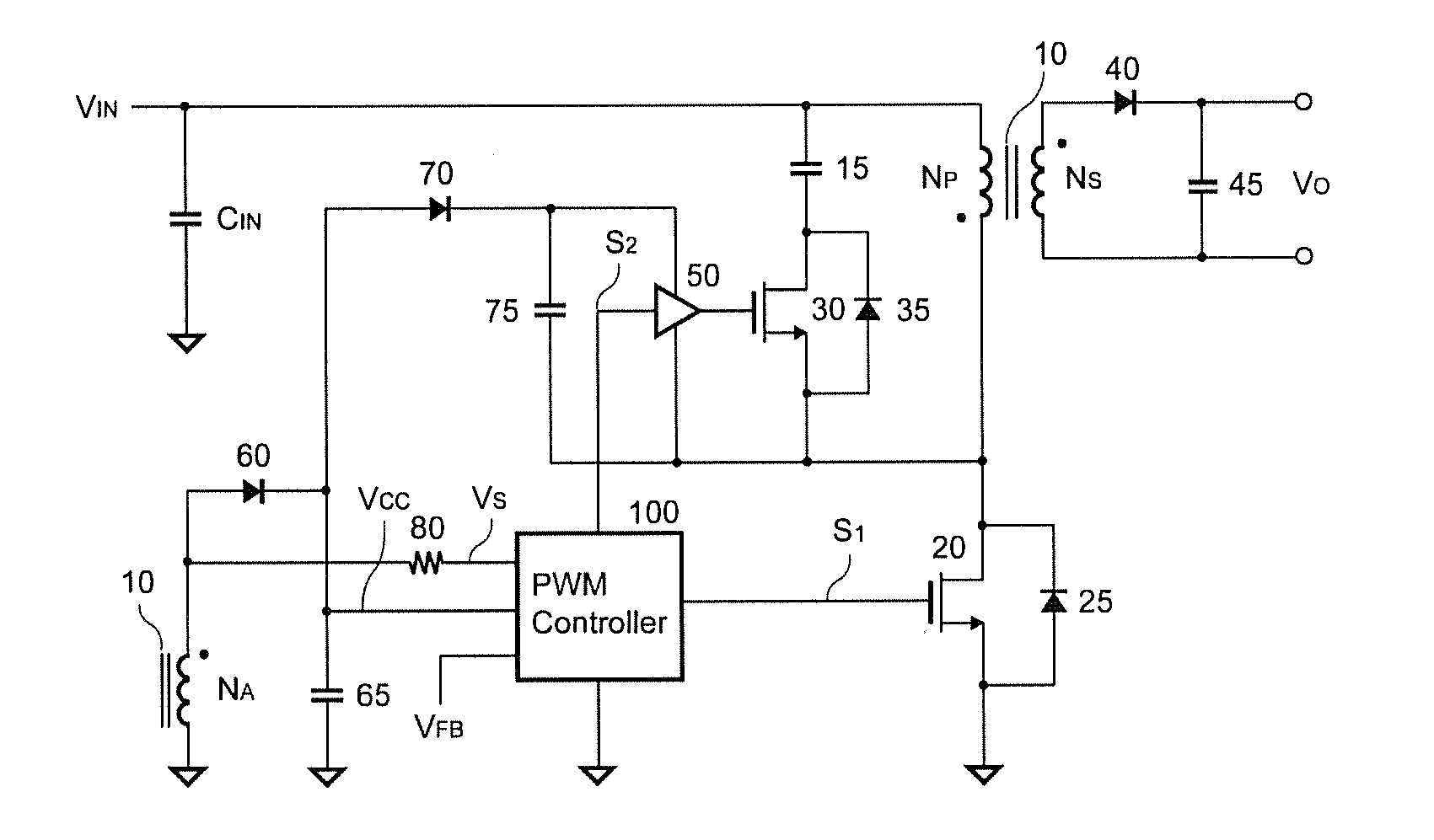 Patent Us20110305048 Active Clamp Circuit For Quasi Resonant Converter Zvs Boost Free Final Year Drawing