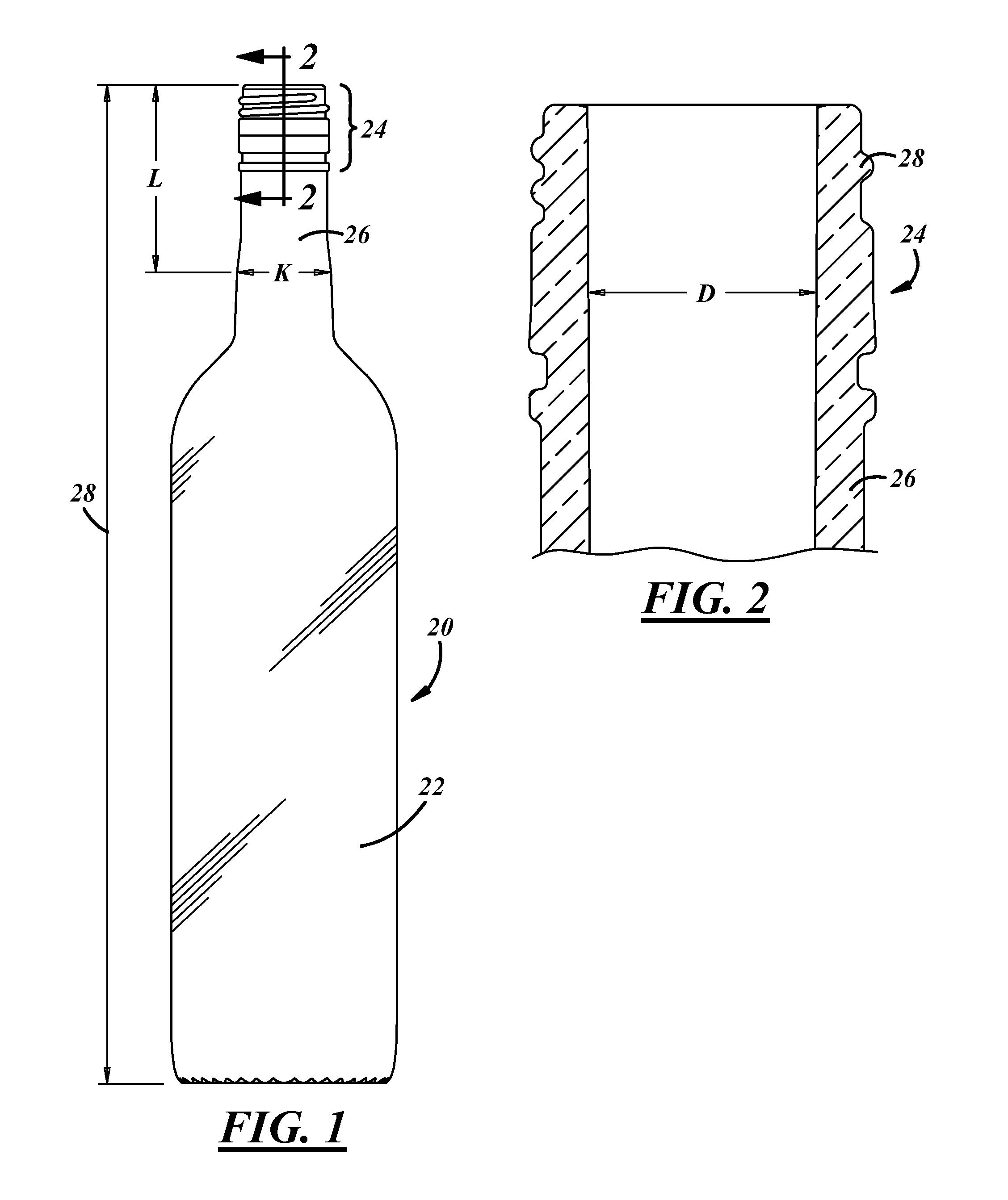 Patent Us20110315651 Stelvin Cork Glass Wine Bottles