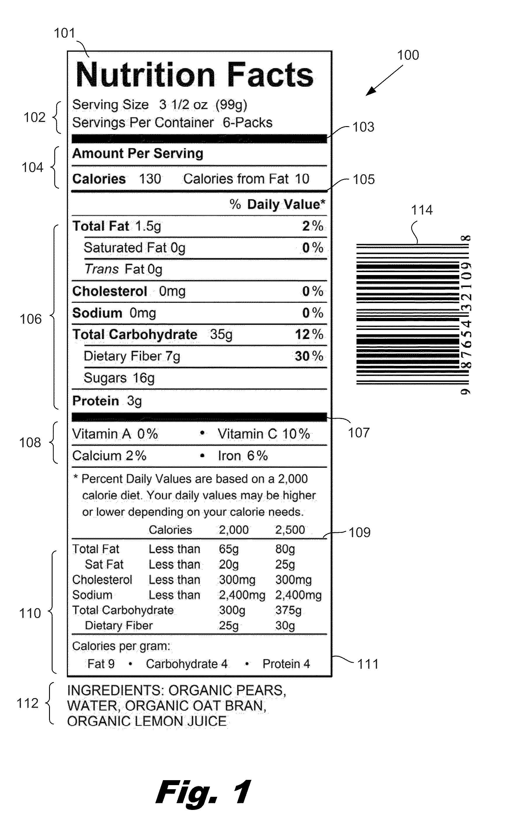 patent us20120005222 - template-based recognition of food product