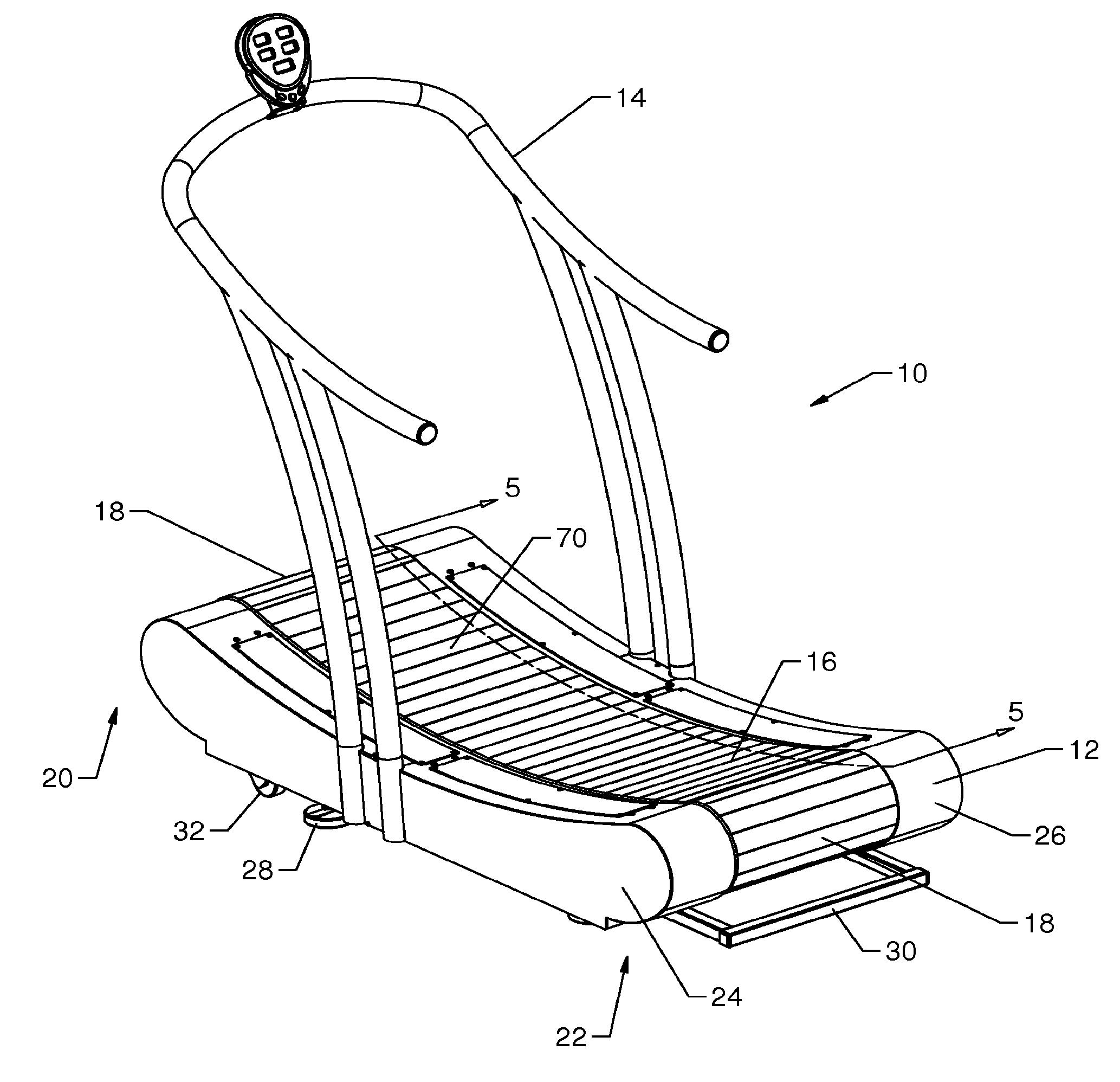 patent us20120010048 - power generating manually operated treadmill