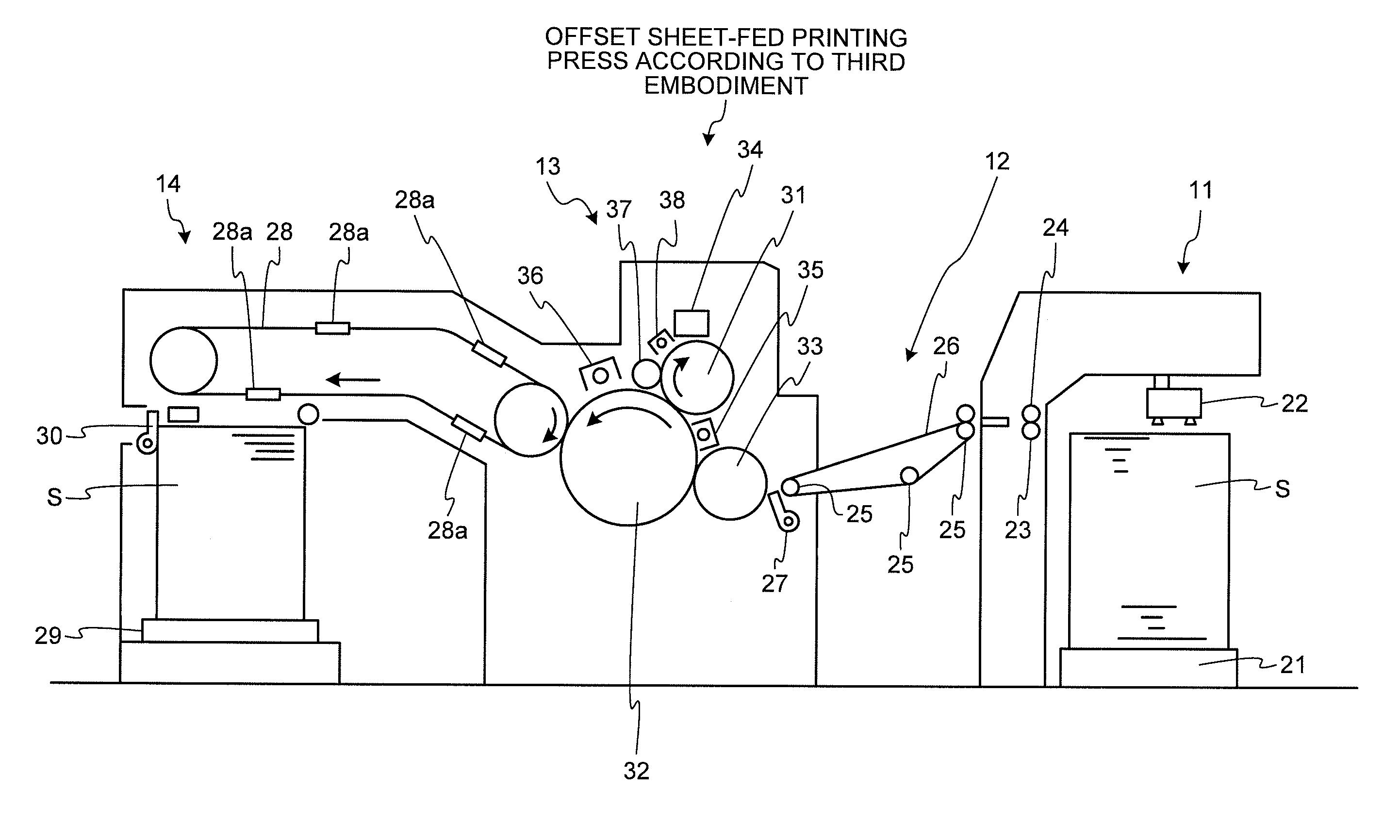 Patent Us20120013693 Printing Device Method Sheet Fed Offset Press Diagram Gravure Drawing