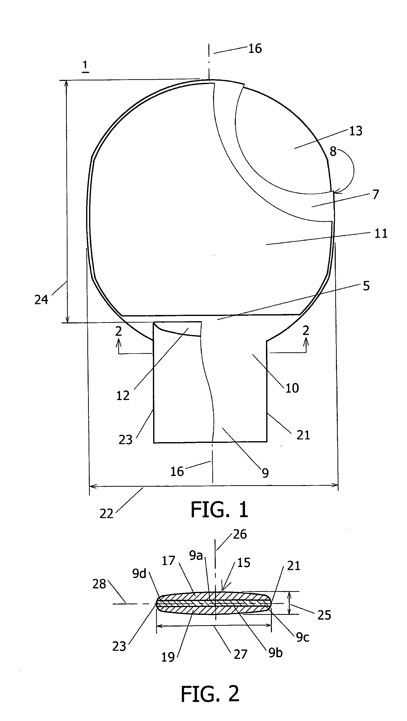Patent Us20170015765 Table Tennis Blade And Method Of Use. Dimensions ...