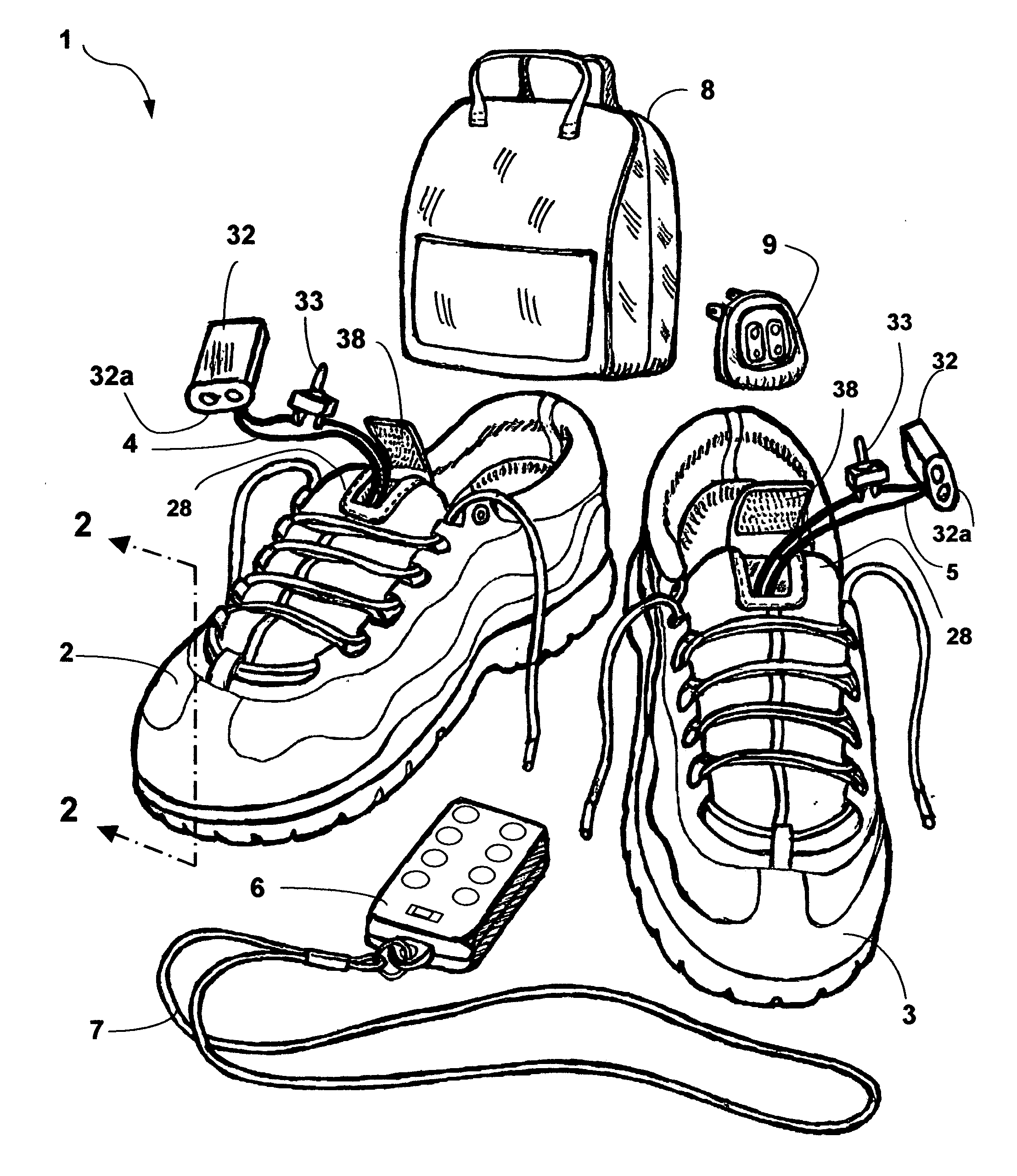 patent us20120023785 wireless remote controlled massaging