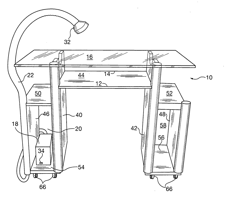 Patent Us20120045981 Nail Salon Workstation Google Patents