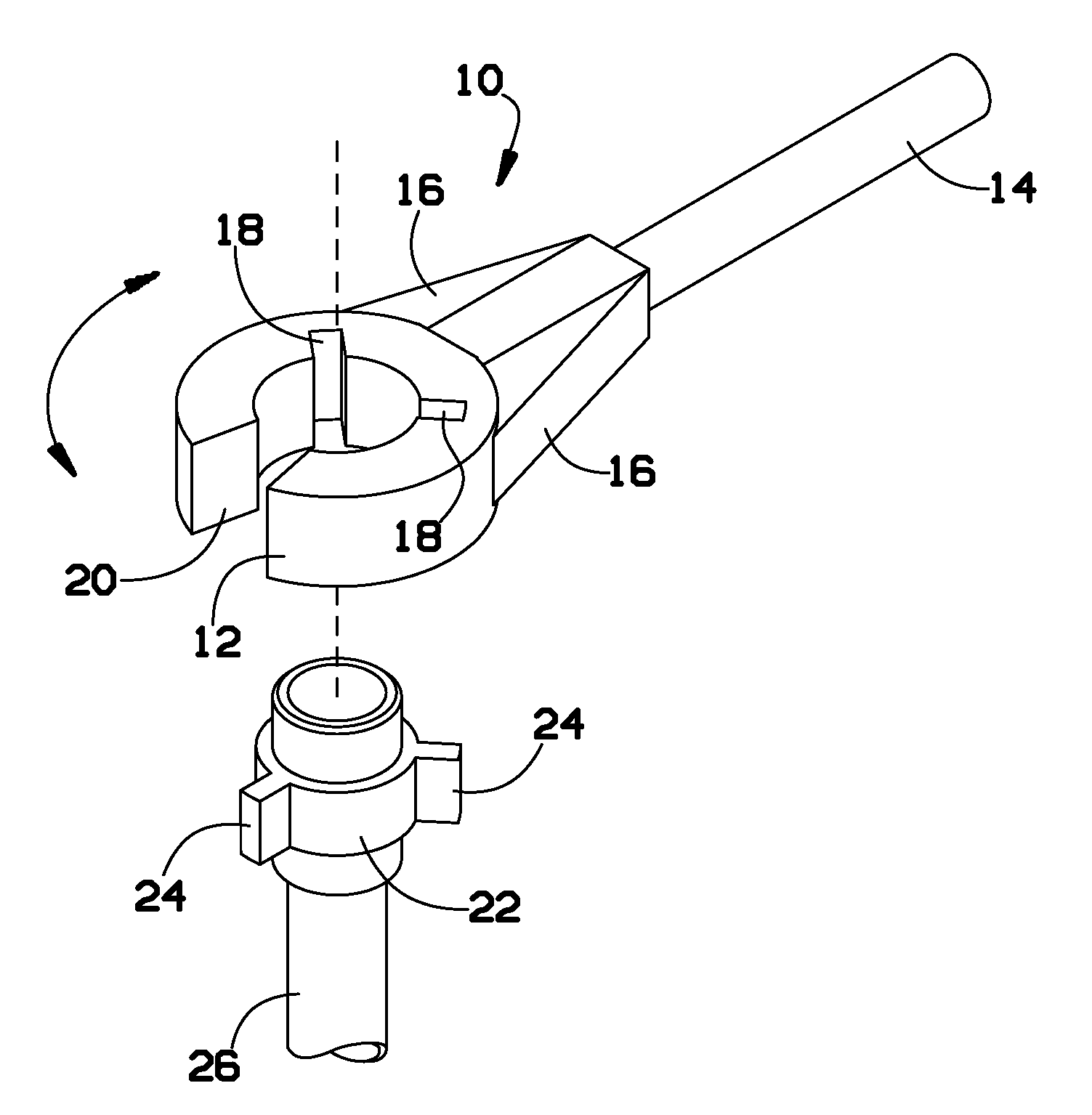 Patent us  tool for hammer unions google patents