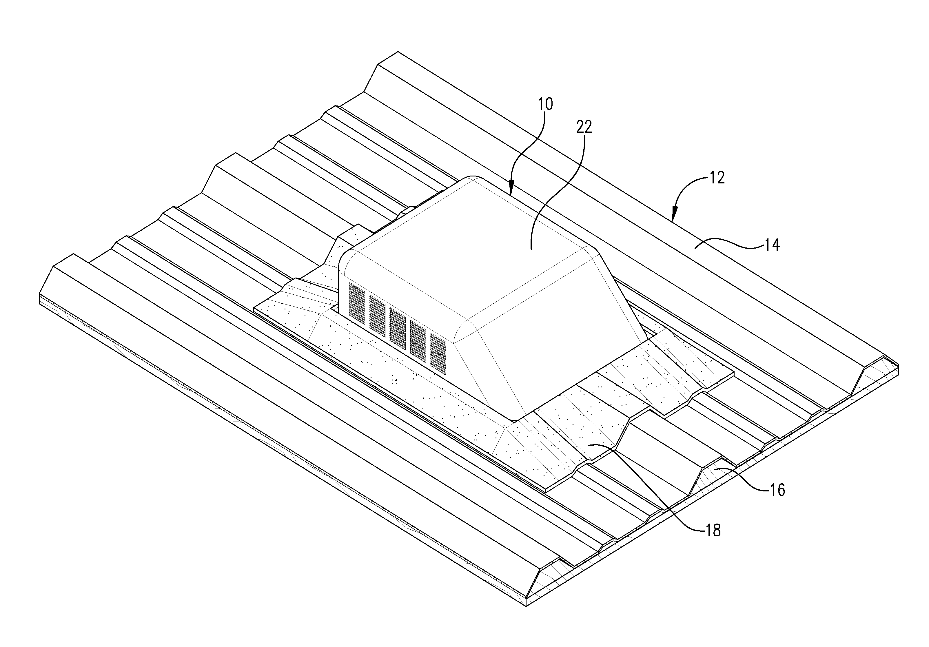 patent us flexible based roof vent for metal roofing
