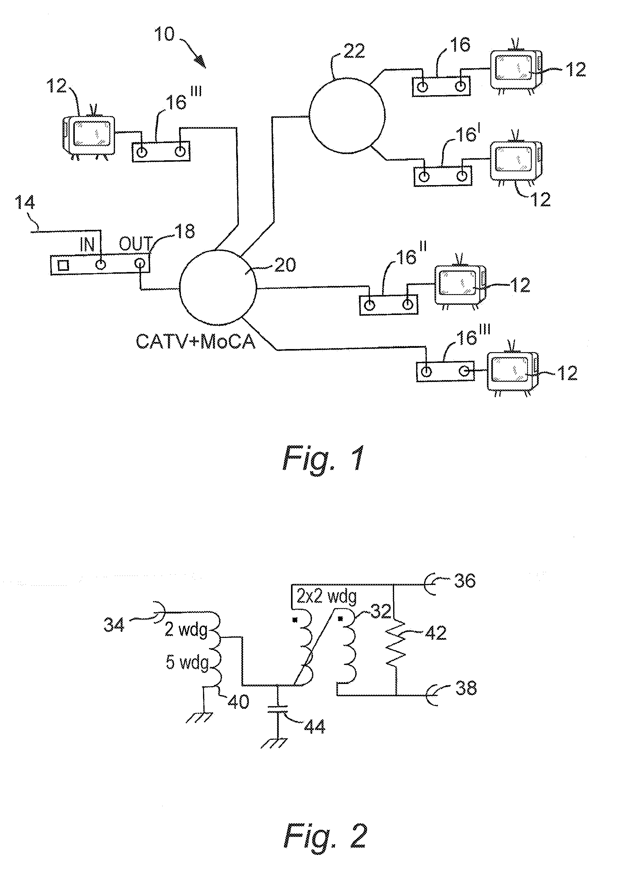 Patent Us20120081190 Signal Splitter For Use In Moca Catv Networks Modem And Wiring Diagram Drawing