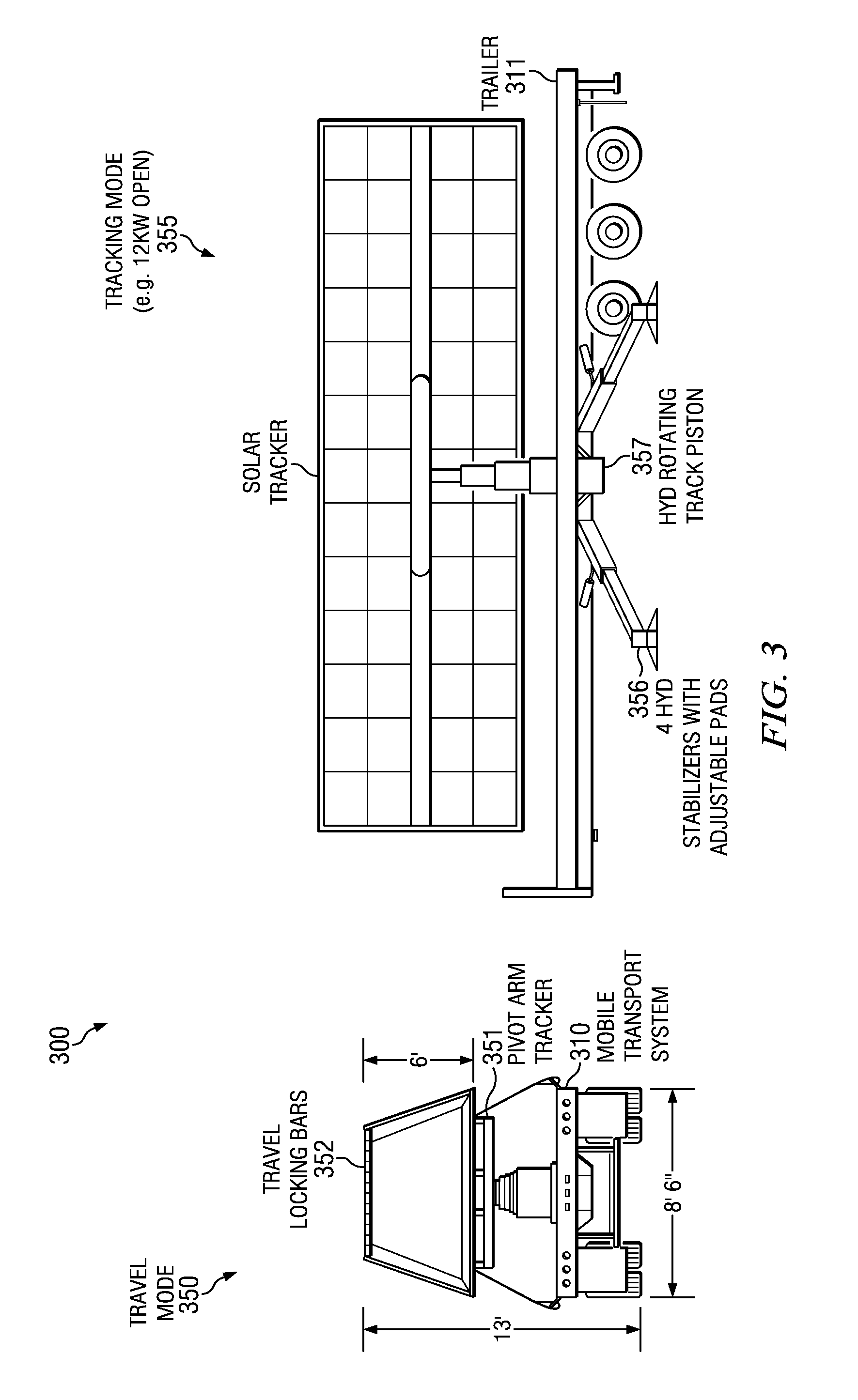 Patent Us20120085387 Truck Mounted Solar Panel System Google Patents Tracker Schematic Drawing