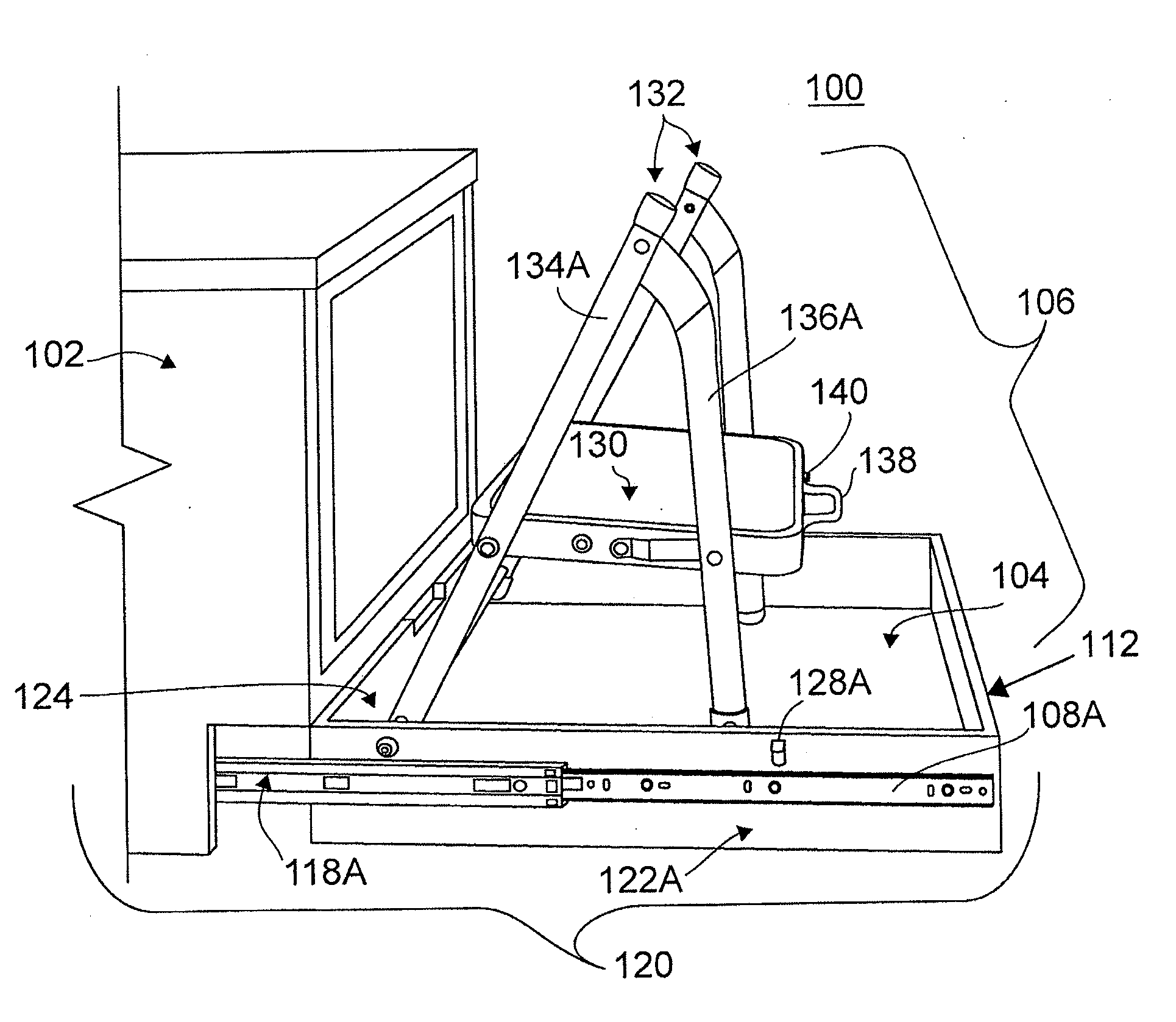 Patent Us20120086317 Toe Kick Step Stool Google Patents