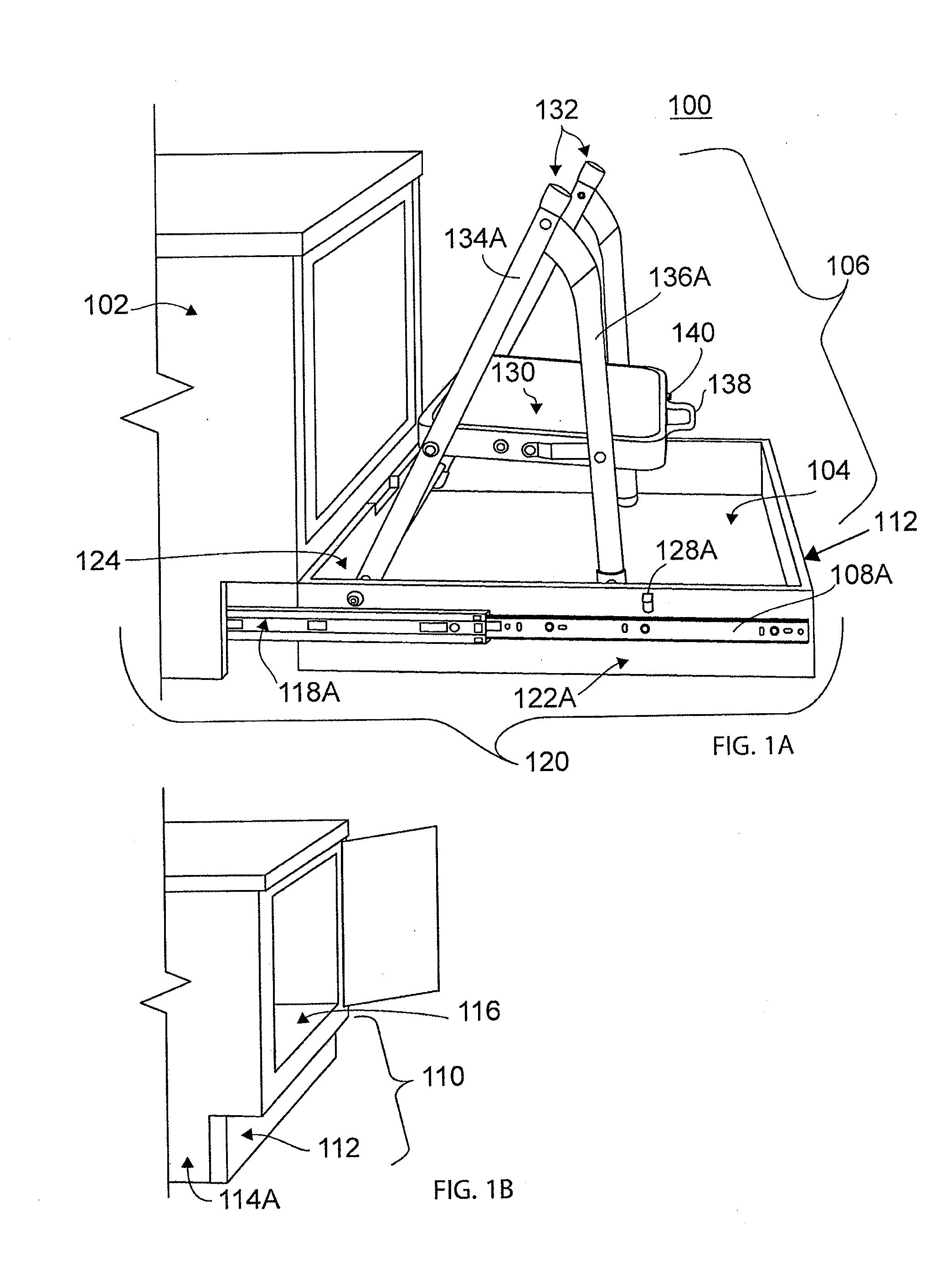 Patent Us20120086317 Toe Kick Step Stool Google Patents