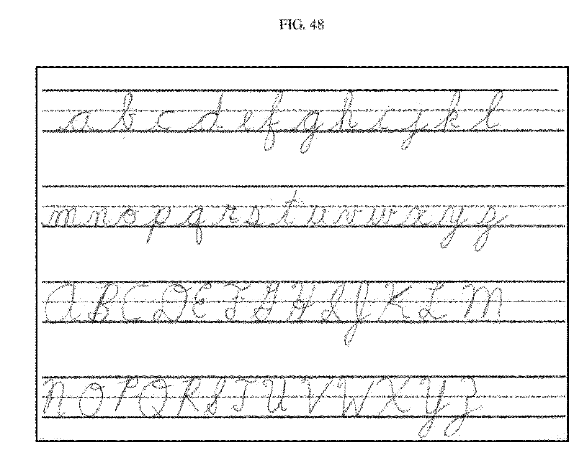 worksheet Practice Cursive Writing patent us20120100511 drawing cartoons to learn cursive writing drawing