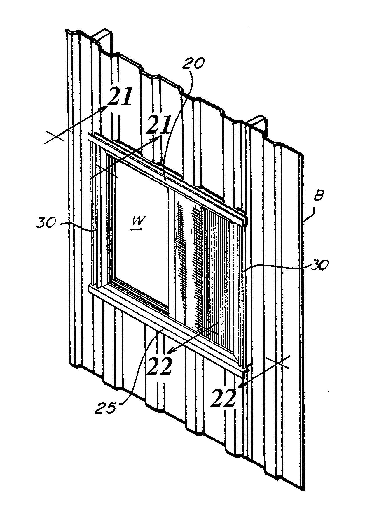Steel Building Framing In Window : Patent us  plastic window frame trim for