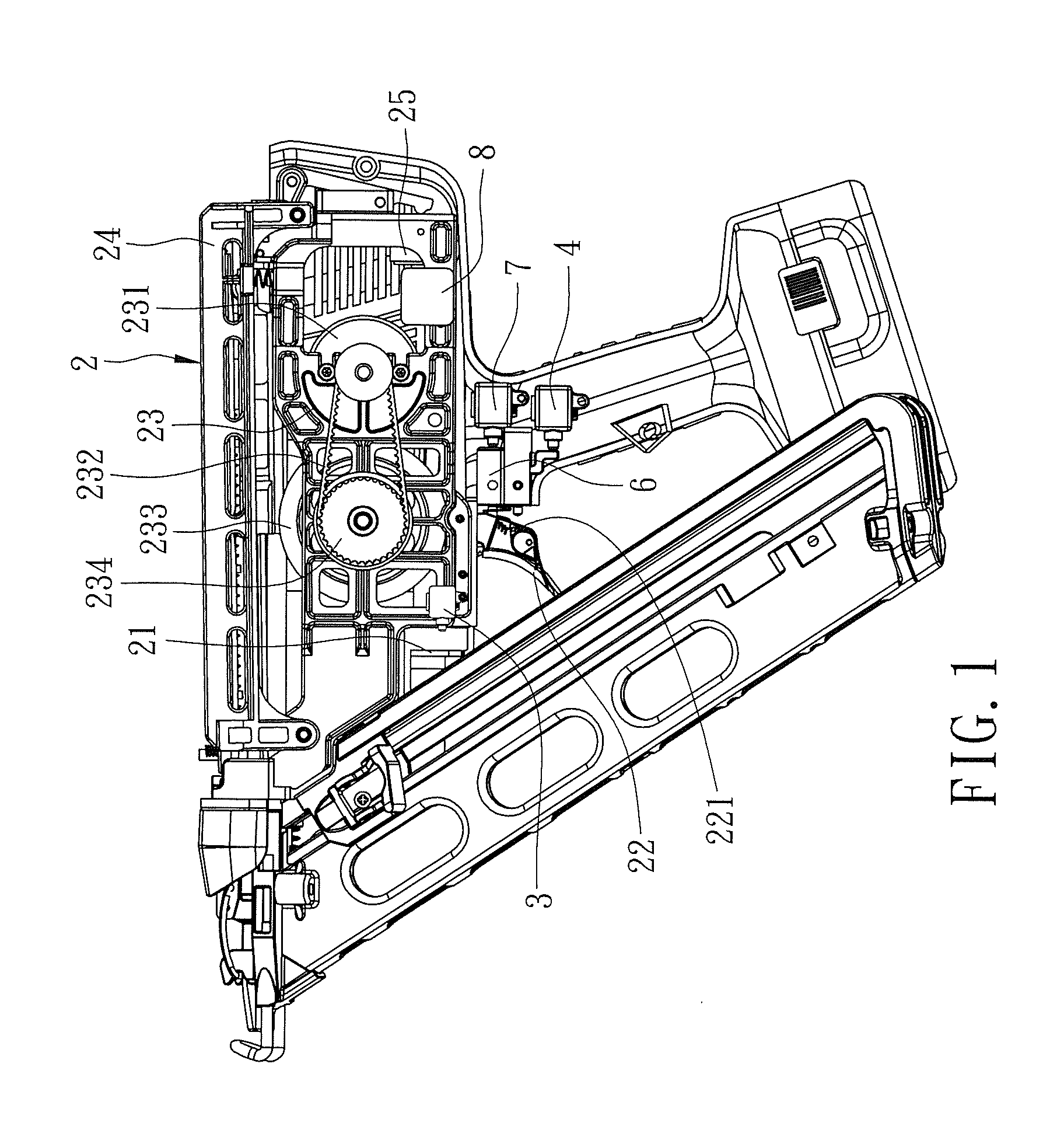 patent us20120104069 - control mechanism for electric nail gun