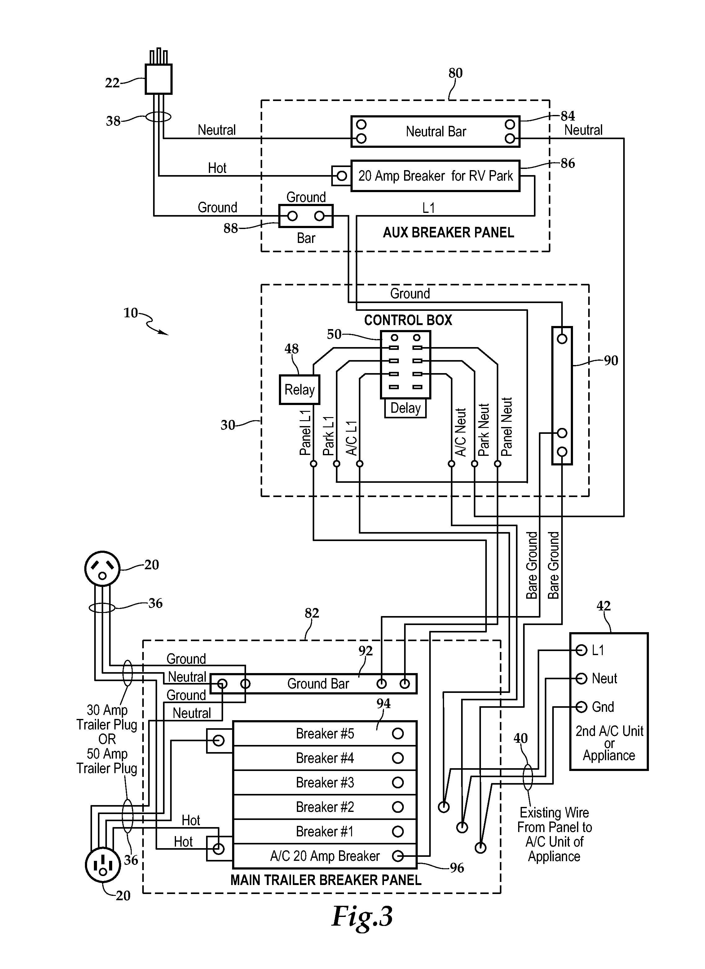 US20120104846A1 20120503 D00002 patent us20120104846 power controller for recreational vehicles wiring diagram rv park at gsmx.co
