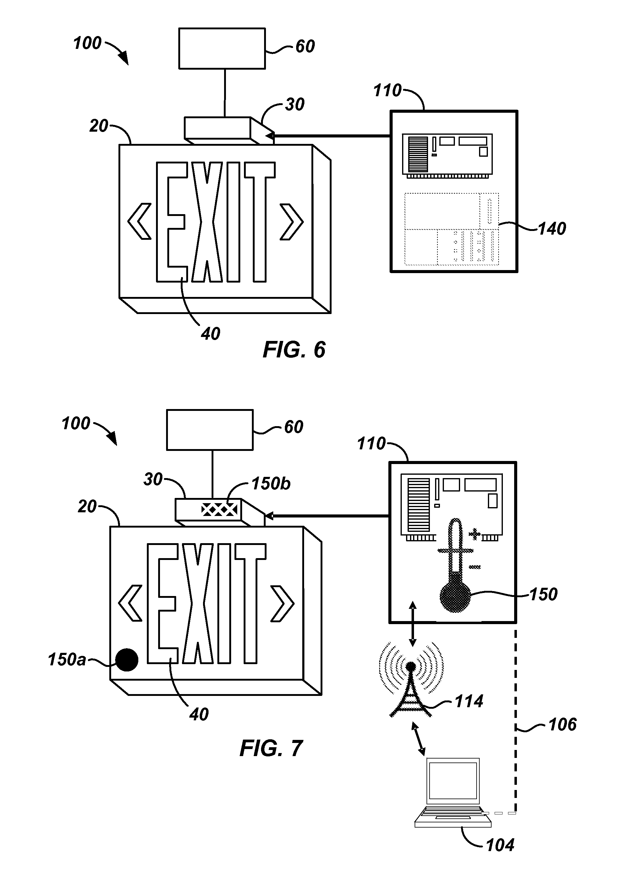 Patent US20120126700 Integrated Exit Signs and Monitoring System – Exit Sign Wiring Diagram