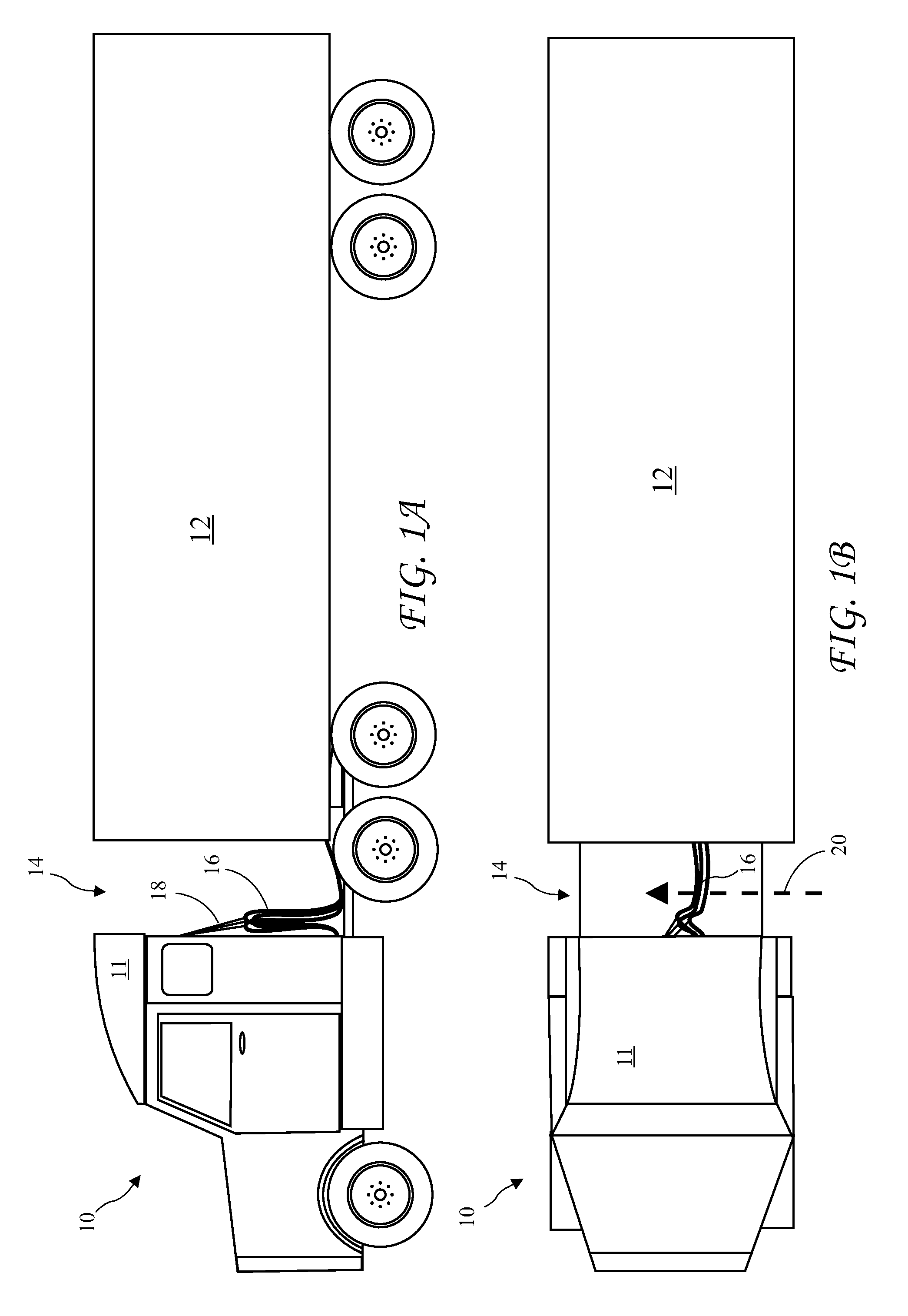 Patent US20120139290 - Tractor-Trailer Cross Wind Blocker - Google ...