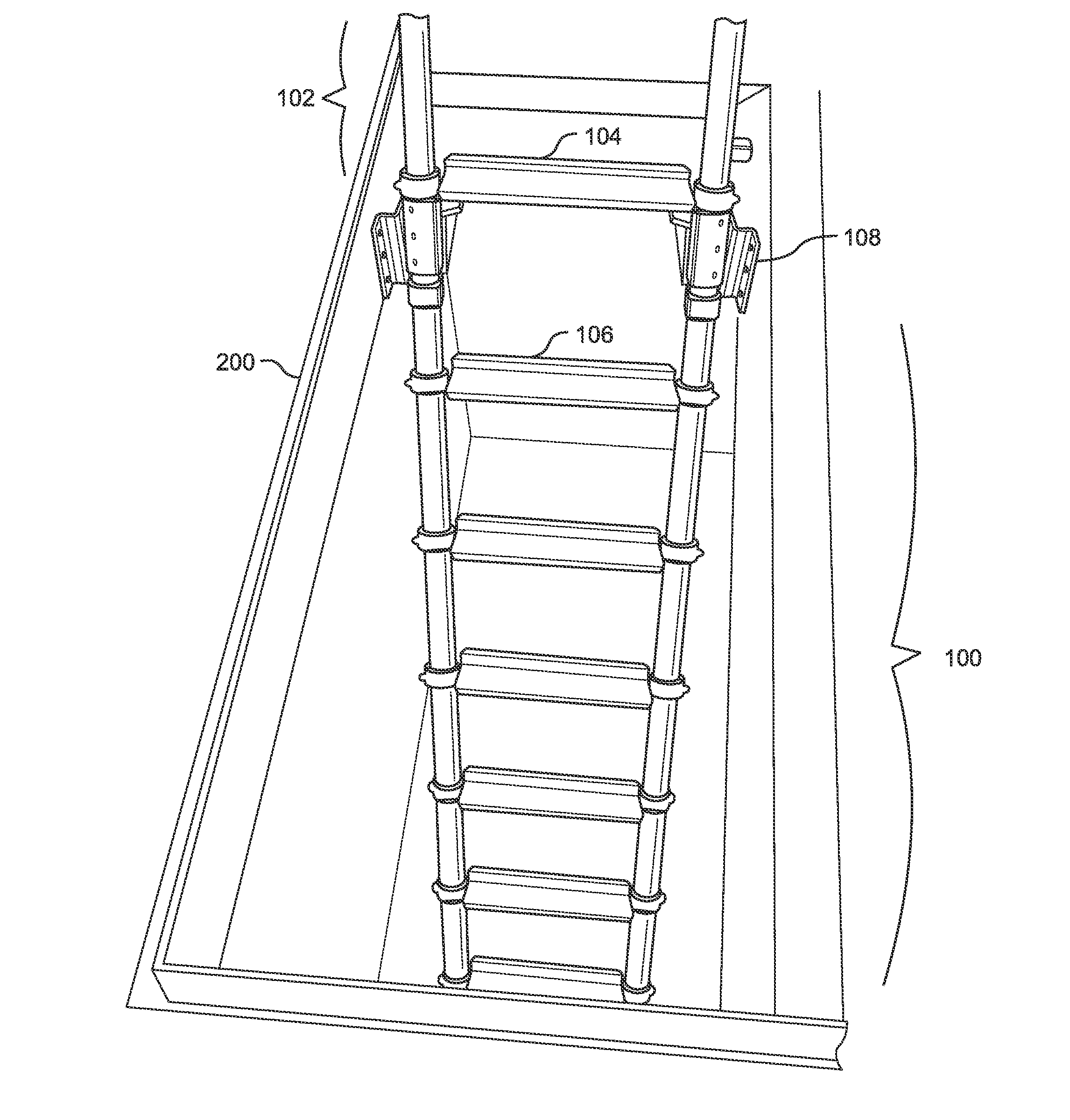 Dolle Barcelona Spiral Stair Kit furthermore Diy Loft Bed 205897 furthermore Attic Stair Cover besides Uses And Testimonials together with Folding Ladders At Lowes. on collapsible attic ladder