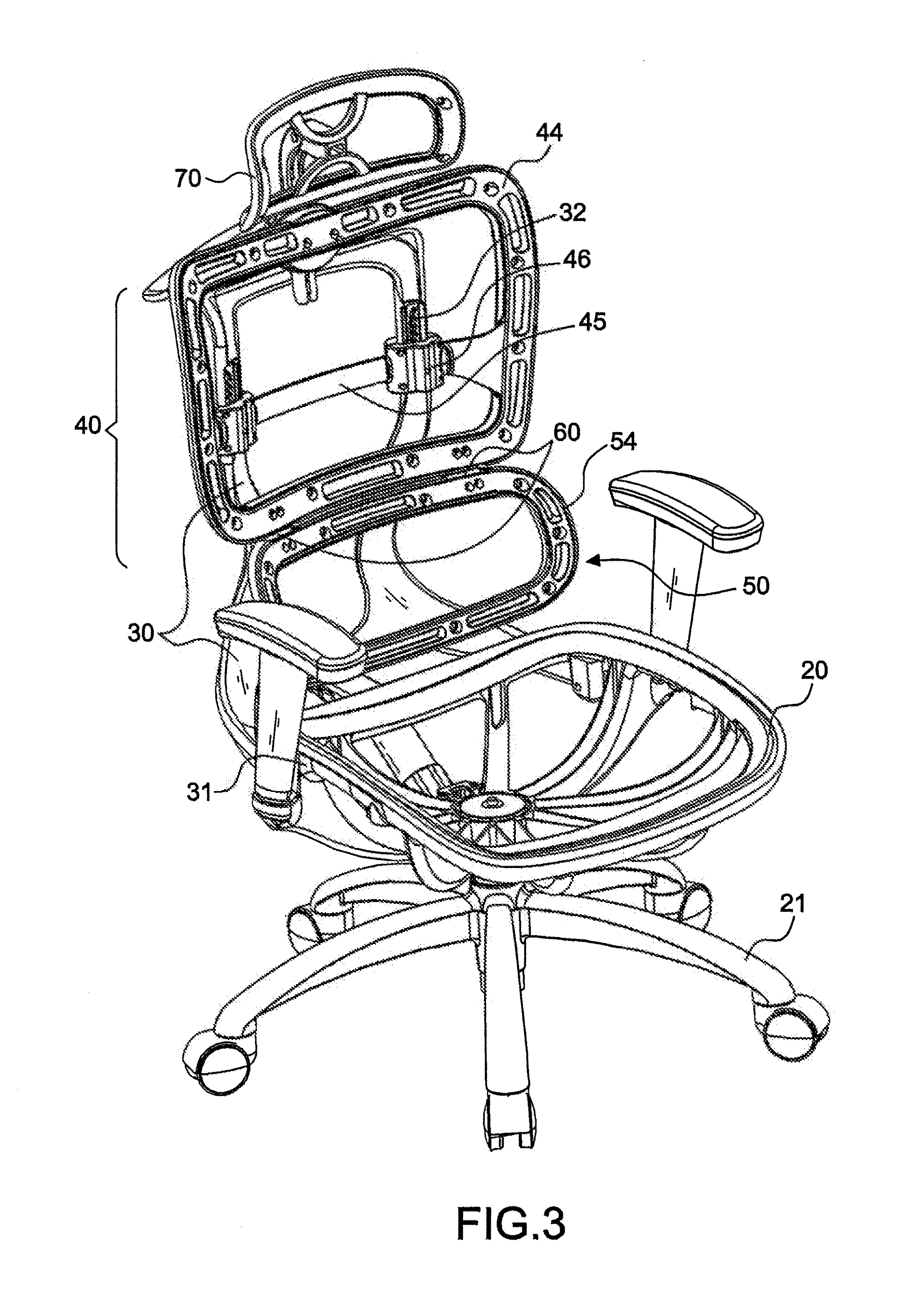 Patent Drawing Office Chair N