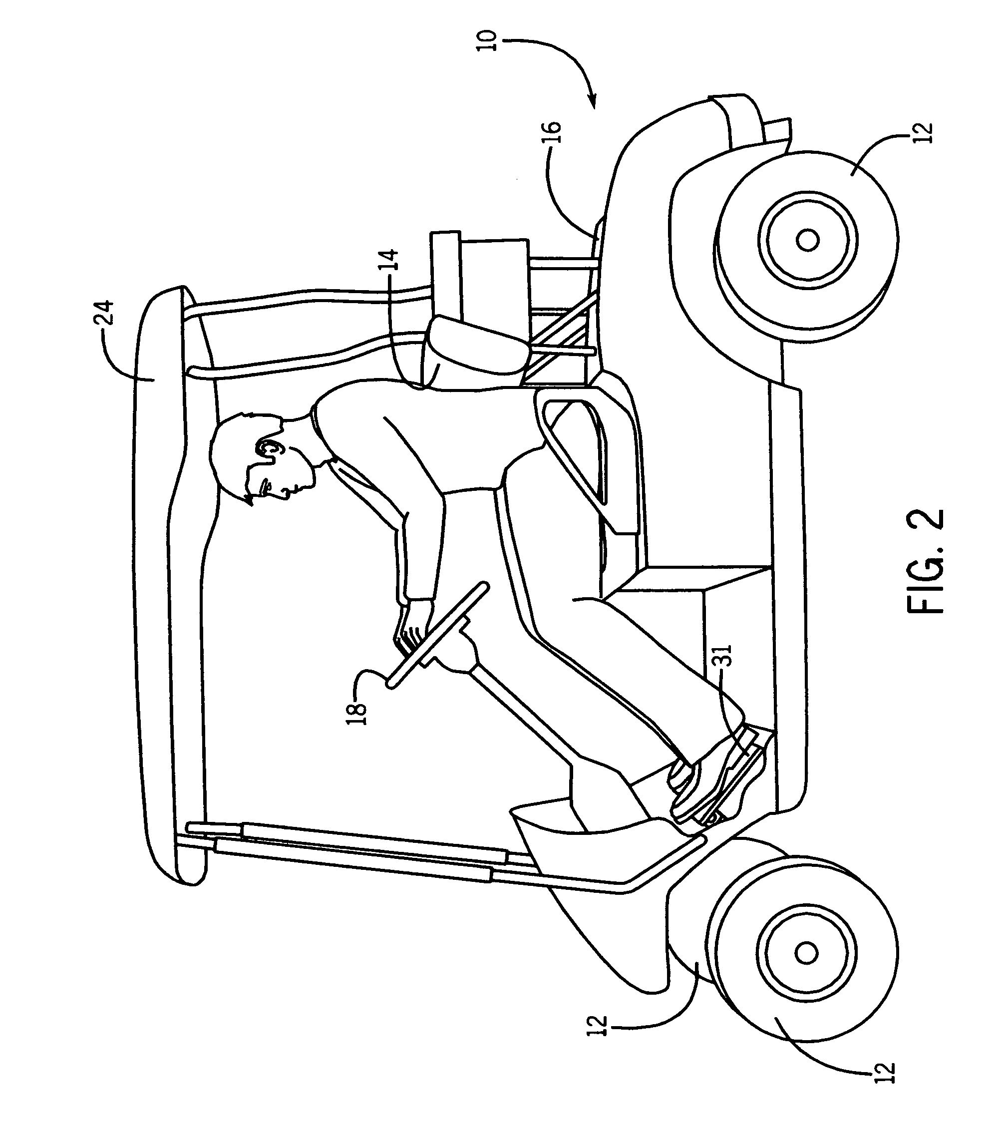 patent us20120205177 - golf cart safety apparatus