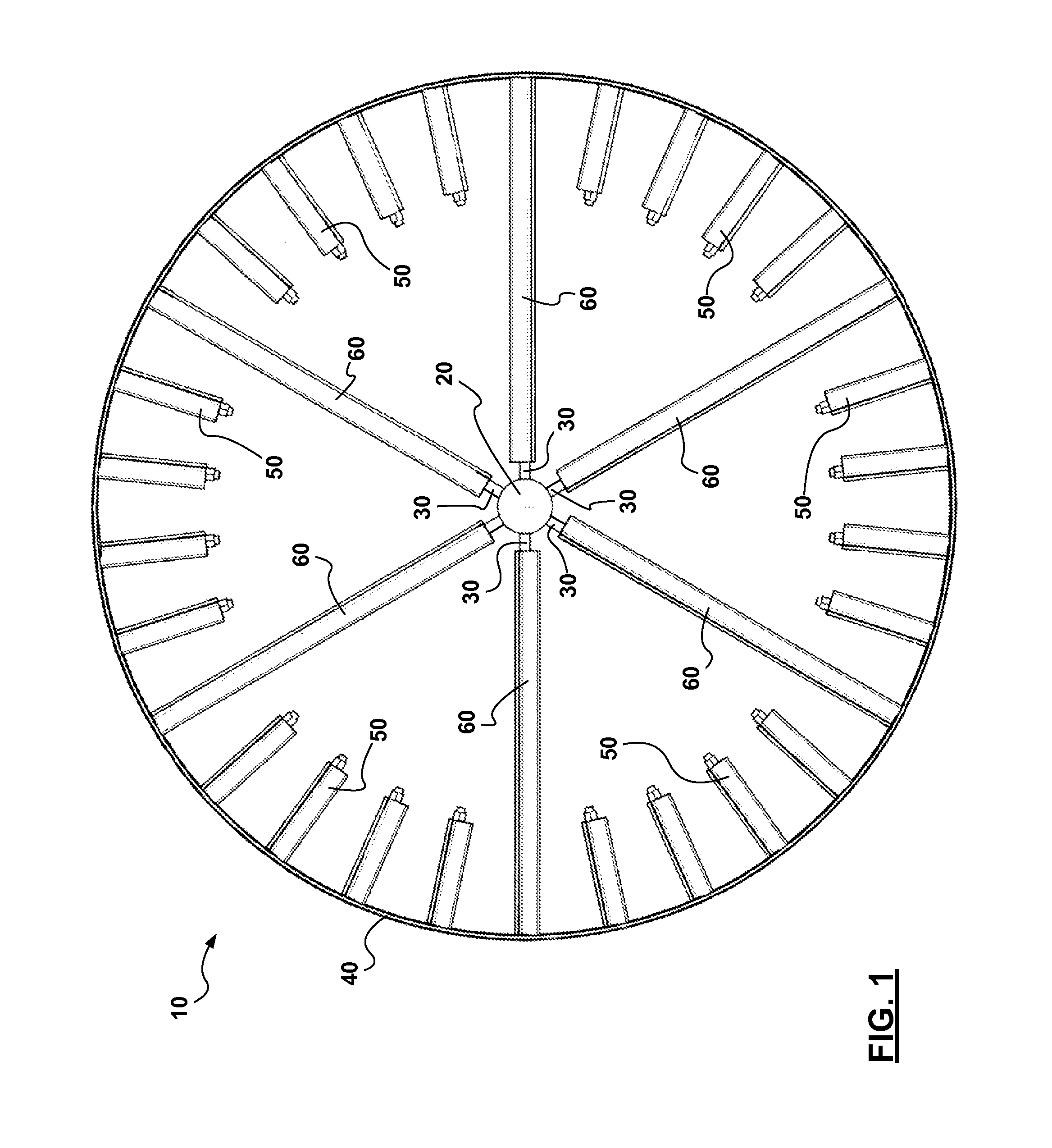 patent us20120213636 - horizontal axis airfoil turbine