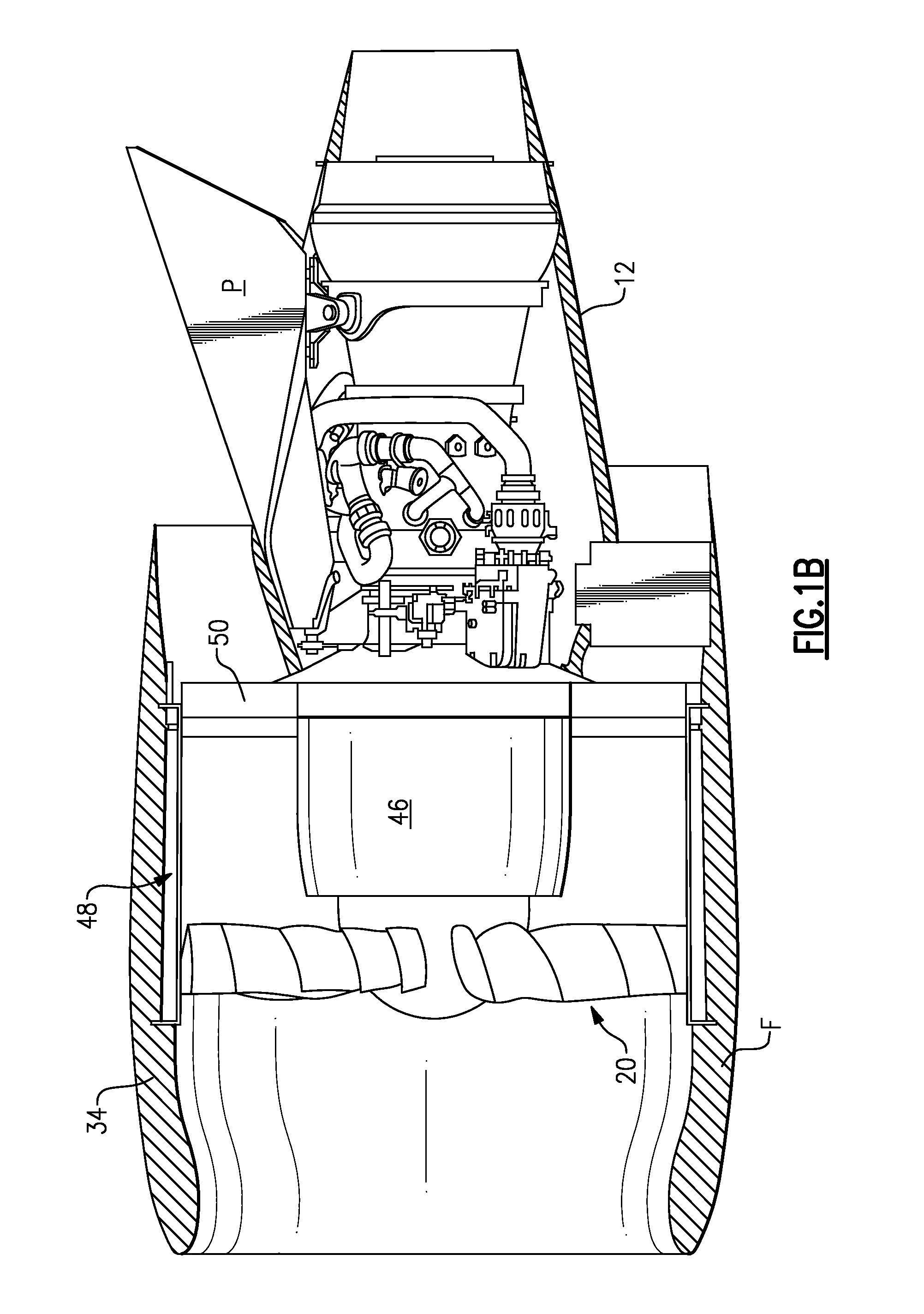 Patent US Gas turbine engine with geared architecture