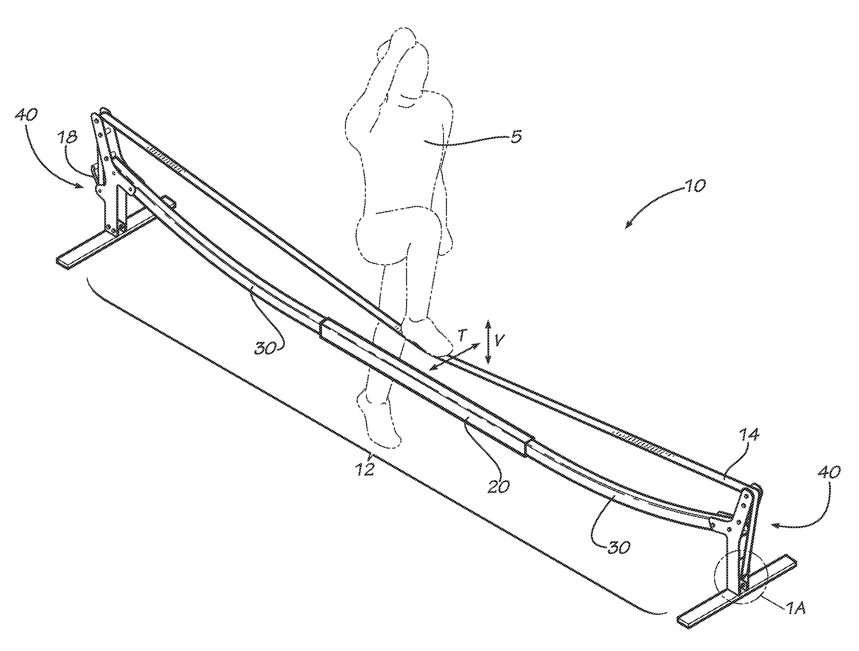 patent us20120238421 - slackline apparatus and training method