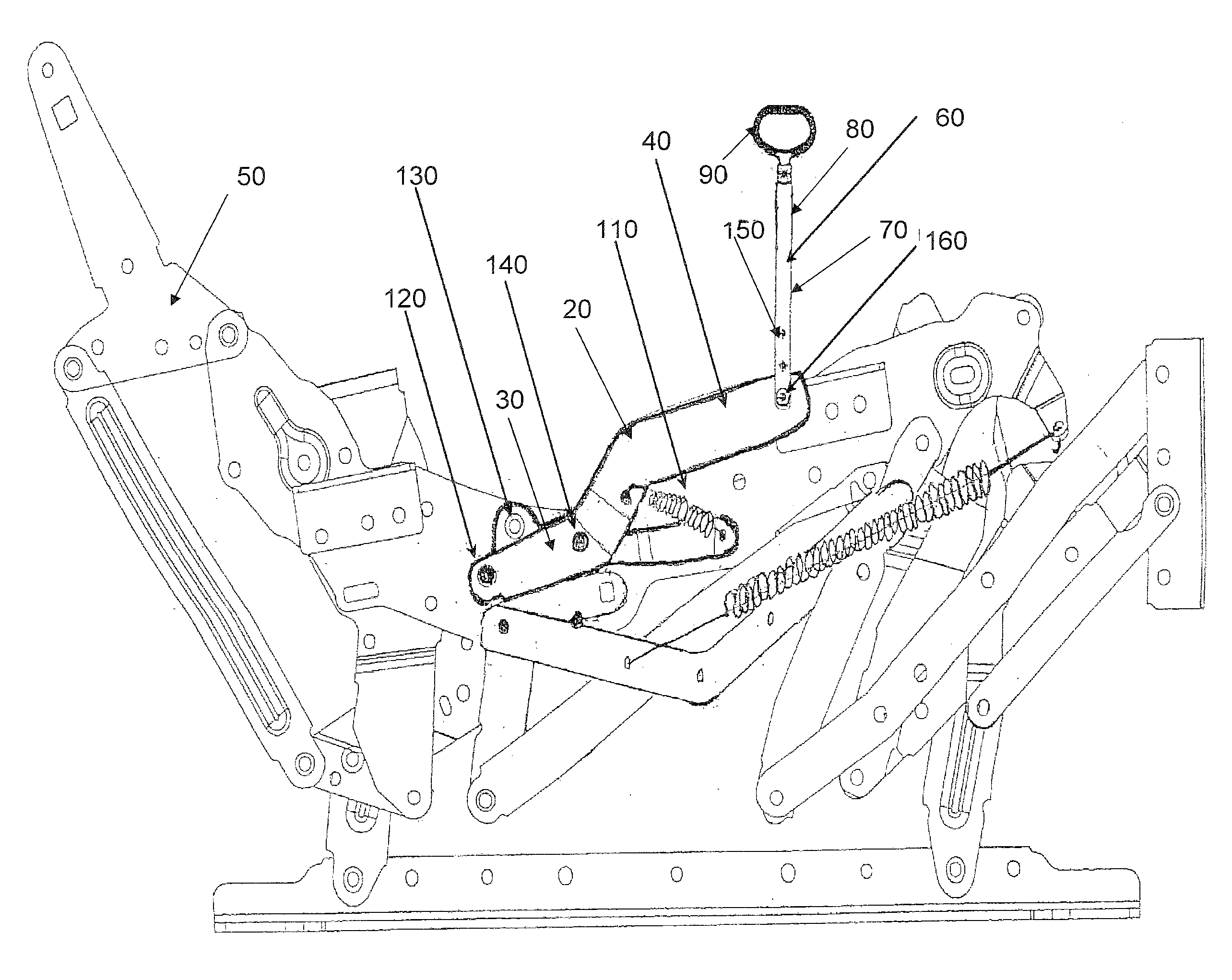 Patent Drawing  sc 1 st  Google & Patent US20120256468 - Flexible Pull Strap Recliner Mechanism ... islam-shia.org