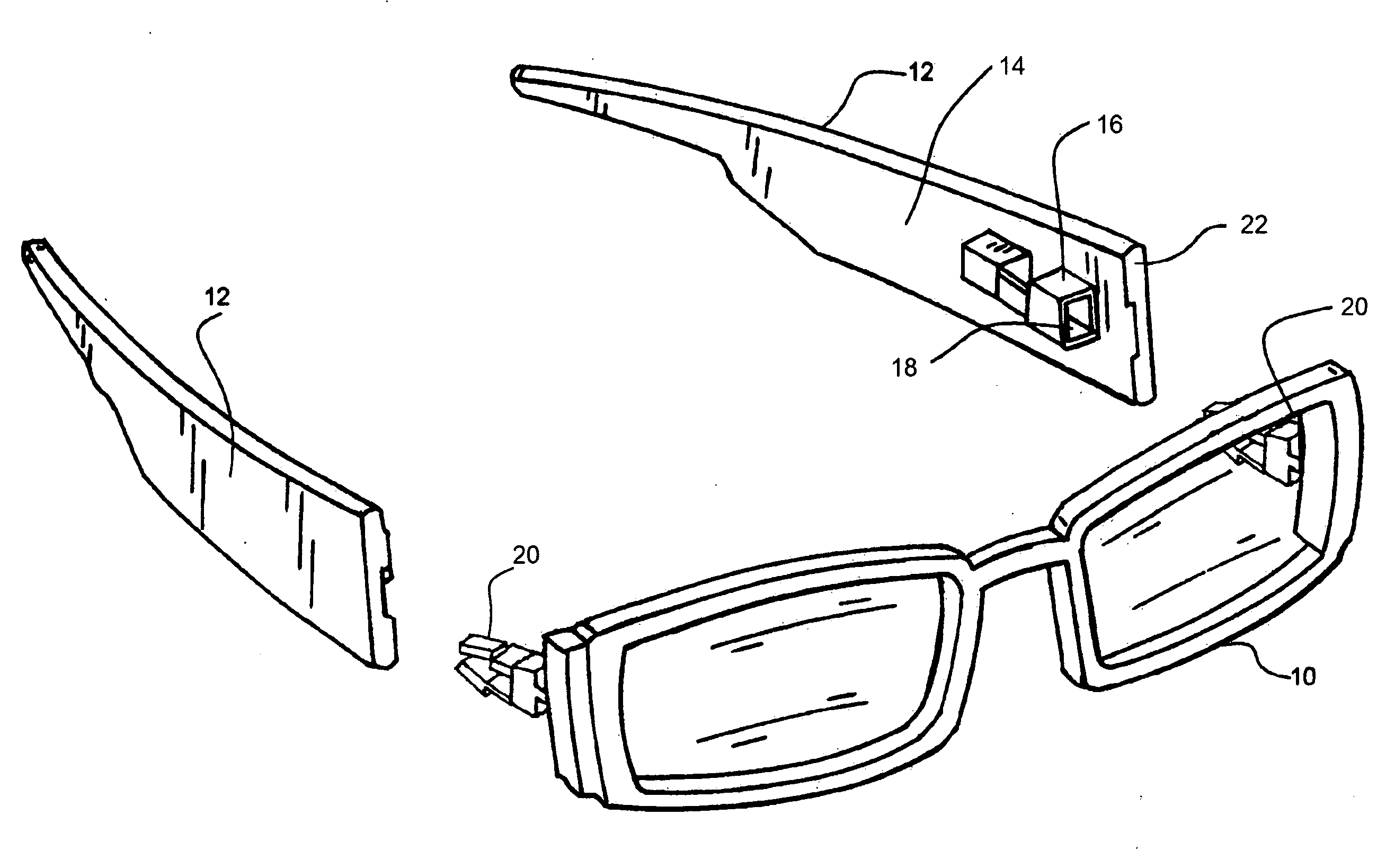 Eyeglass Frames Changeable Arms : Patent US20120257159 - Side arm release system for ...