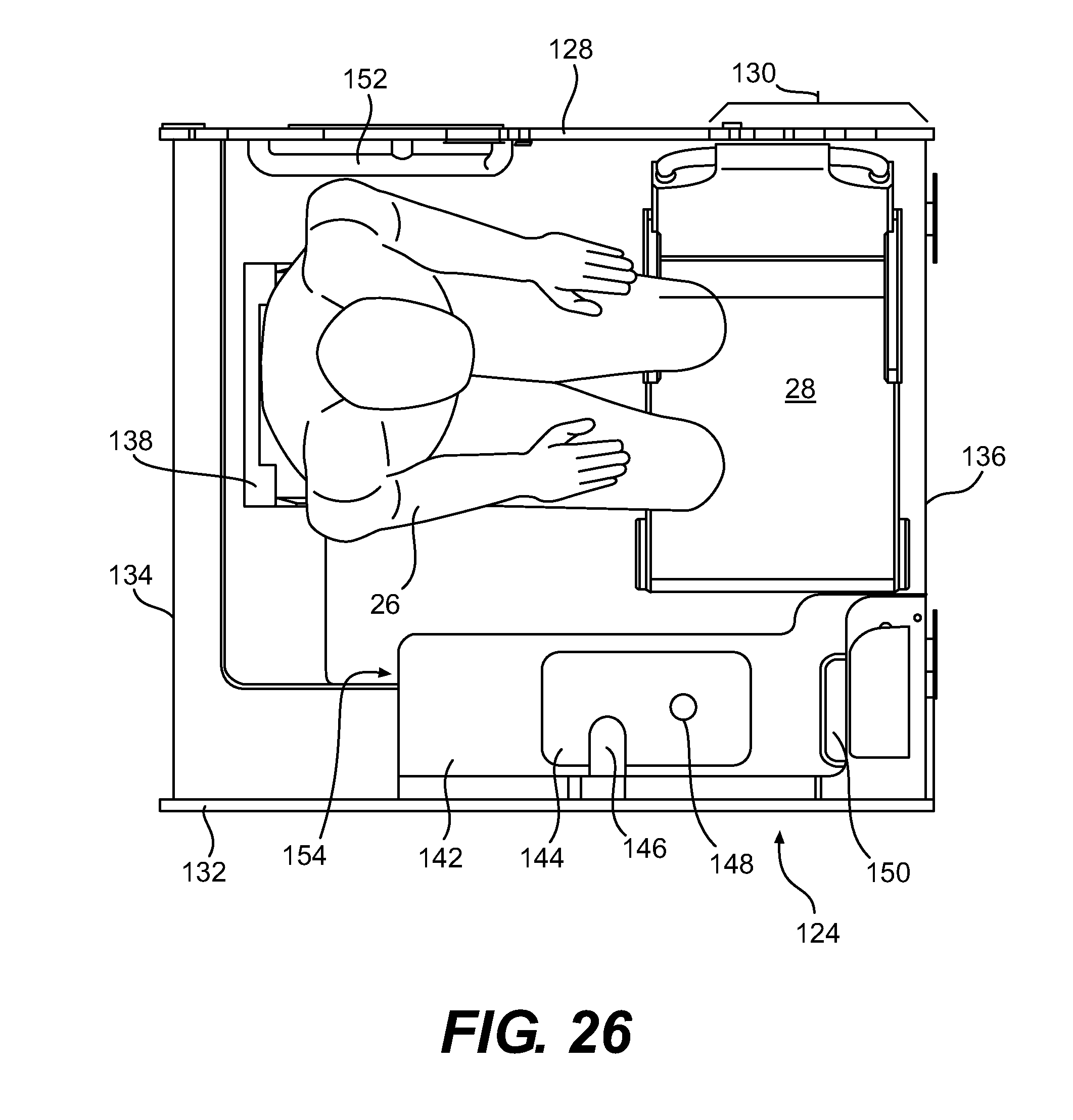 Handicap Bathroom Airplane patent us20120261509 - aircraft lavatory for a person with reduced