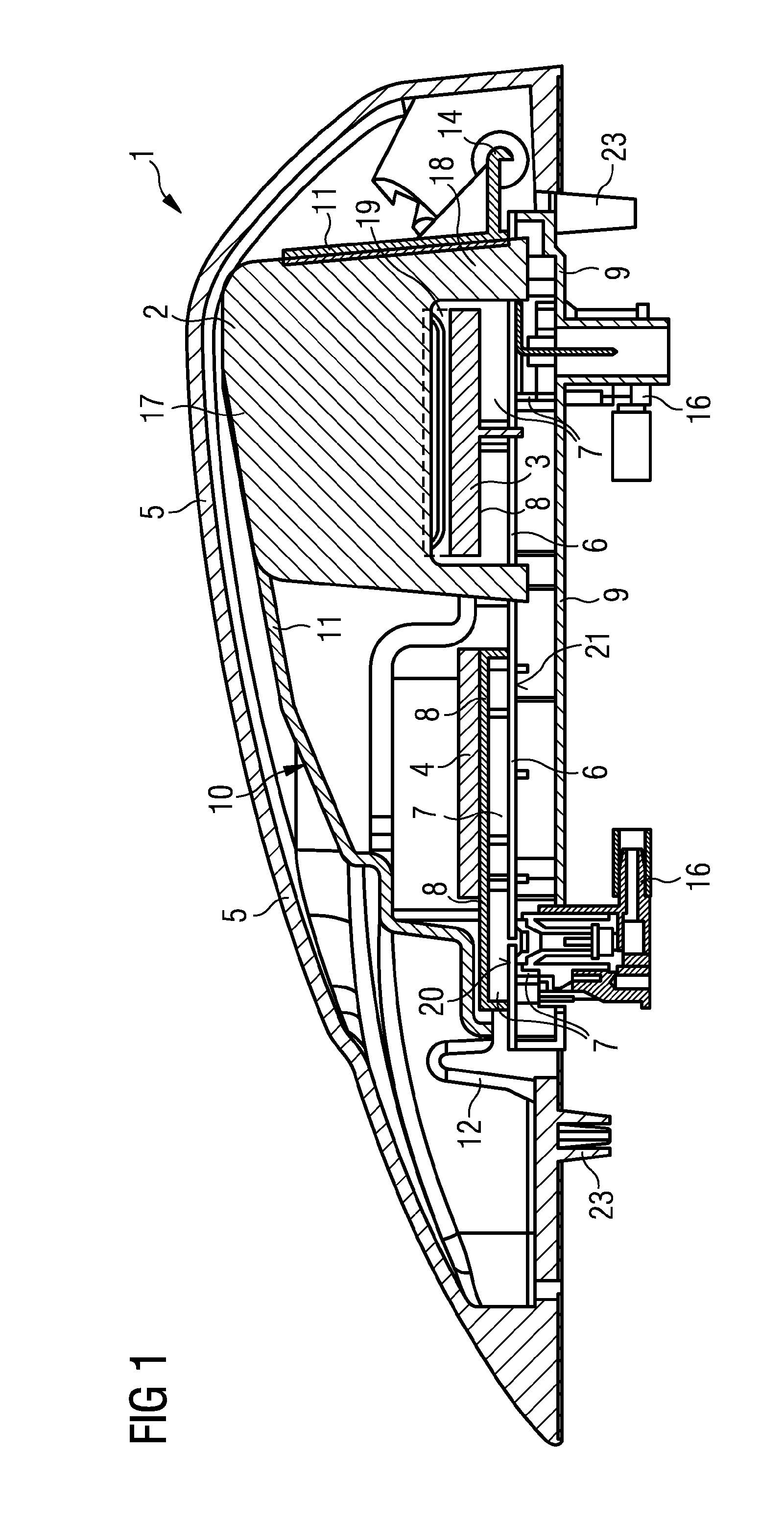 patent us20120274519 - highly integrated multiband shark fin antenna for a vehicle