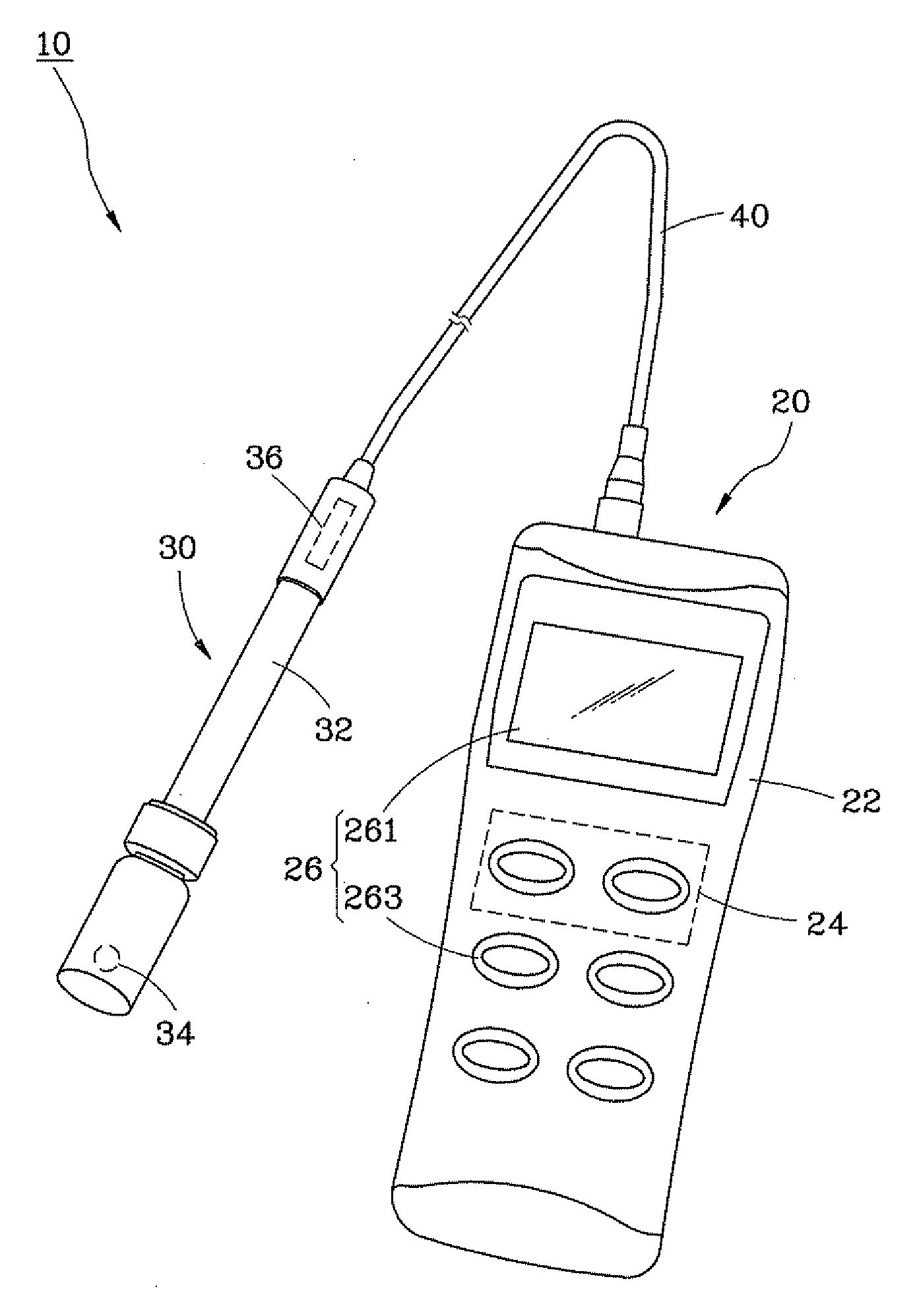 patent us20120286761 - waterproof ph meter