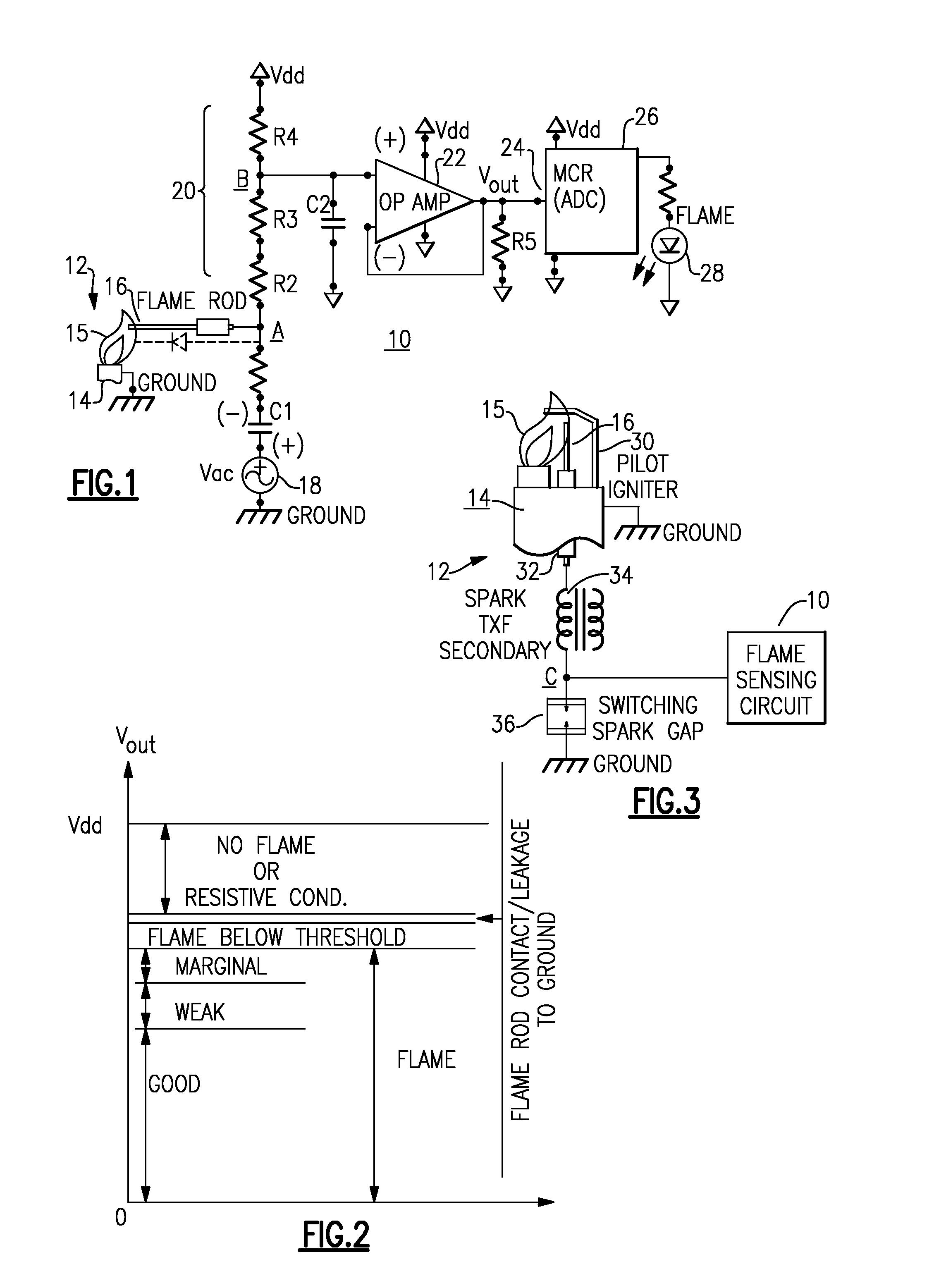 US20120288806A1 20121115 D00001 patent us20120288806 flame sense circuit for gas pilot control flame sensor wiring diagram at suagrazia.org
