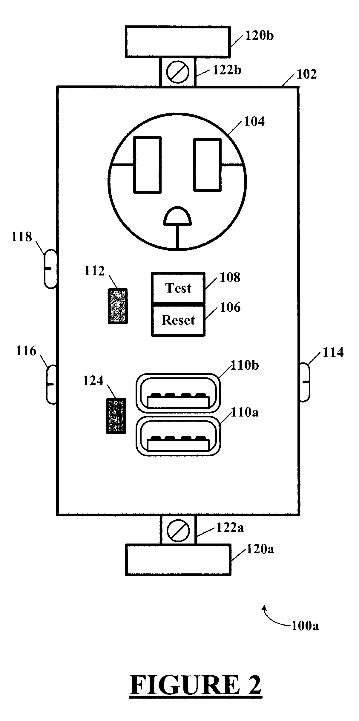 patent us20120292991 - combination gfci  afci receptacle with class 2 power units
