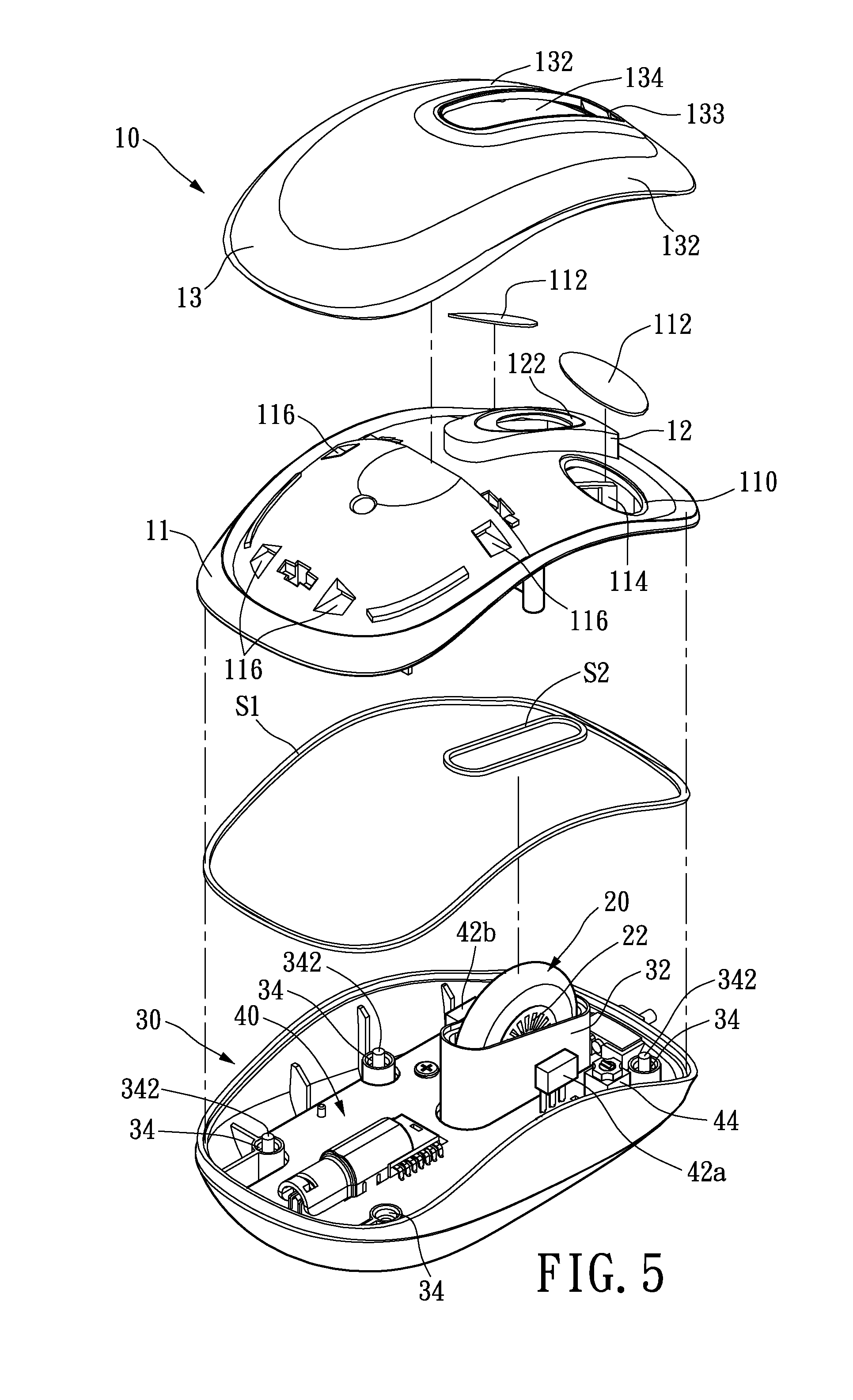 patent us20120293414 - waterproof computer mouse